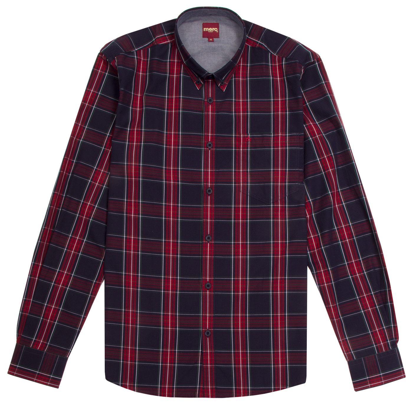 Harcourt MERC Mod Tartan Check Button Down Shirt