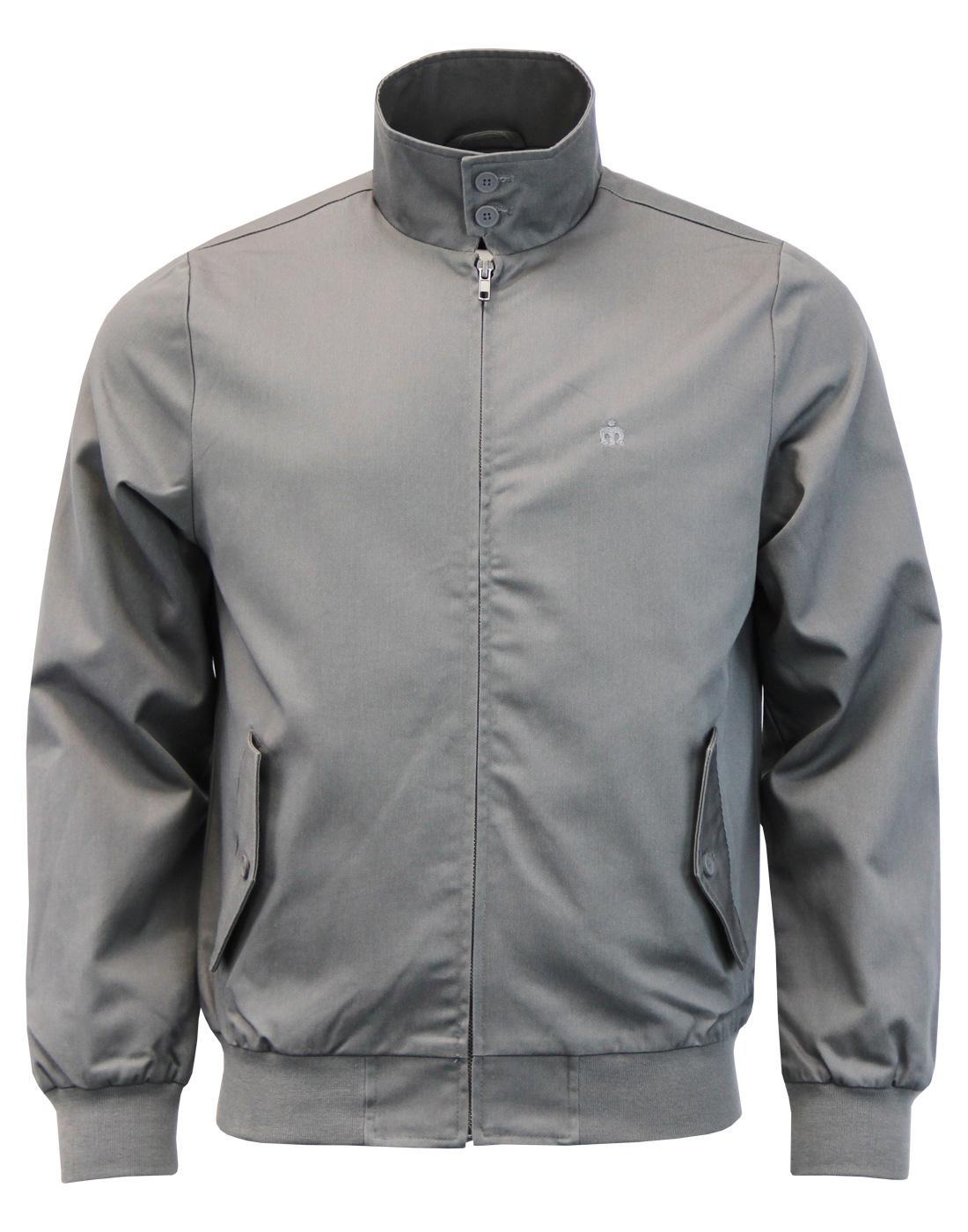 MERC Retro Mod Tartan Lined Harrington Jacket (DG)