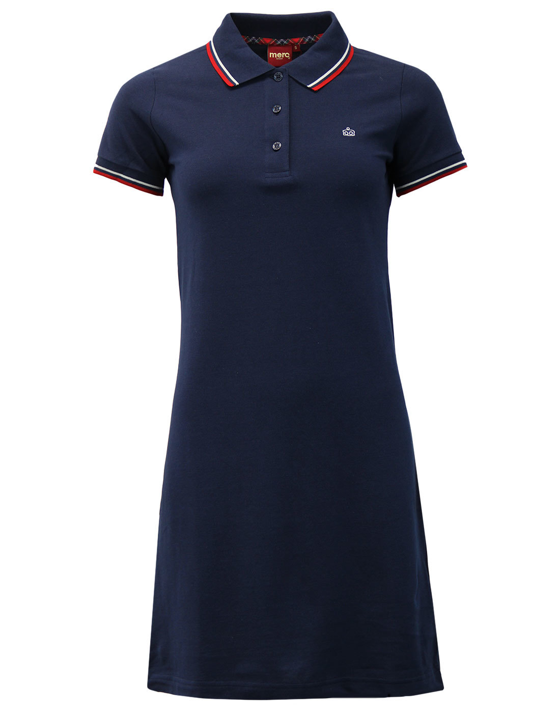 Merc Kara Mod Polo Dress in Navy