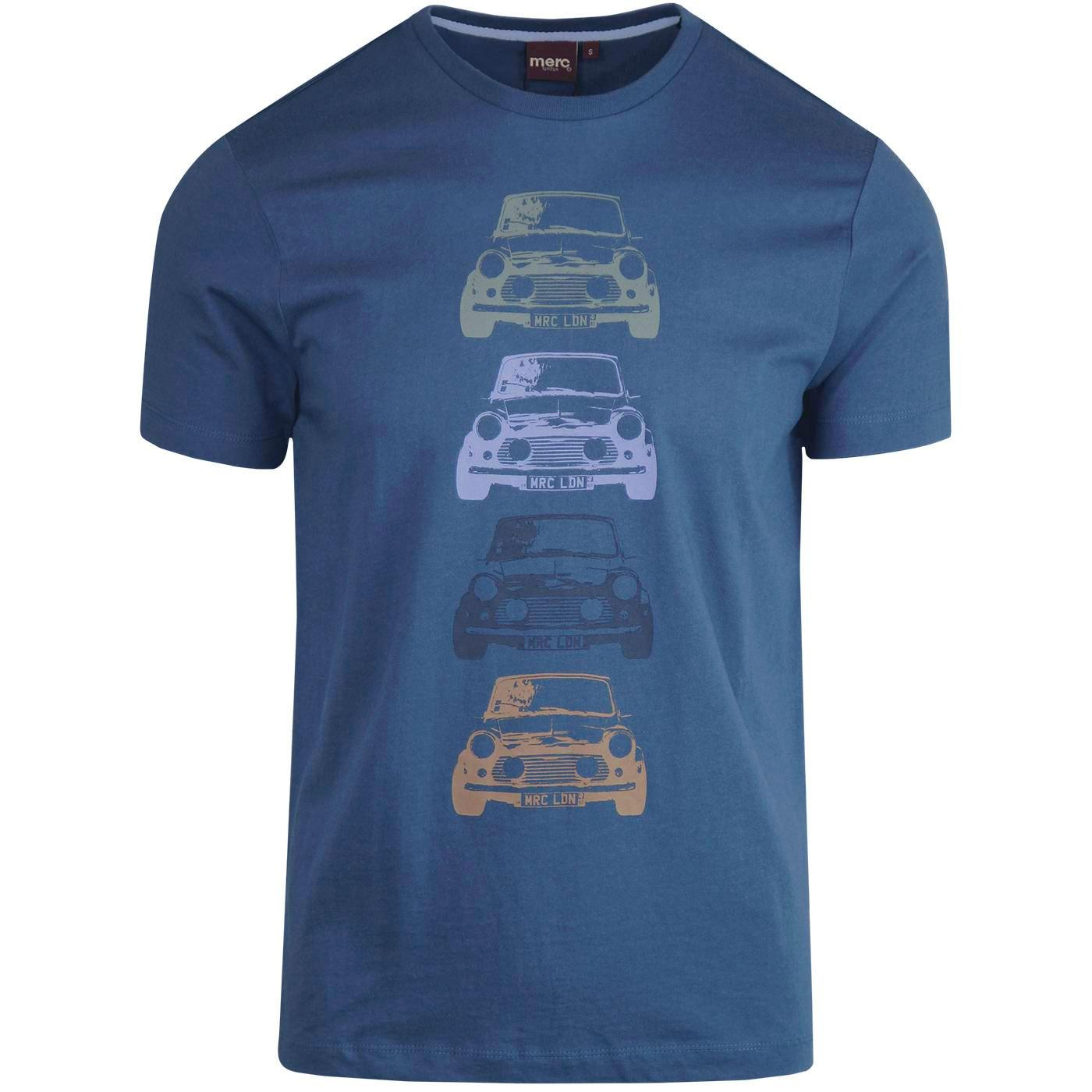 Kew MERC Retro Mod Mini Graphic Tee (Bright Blue)