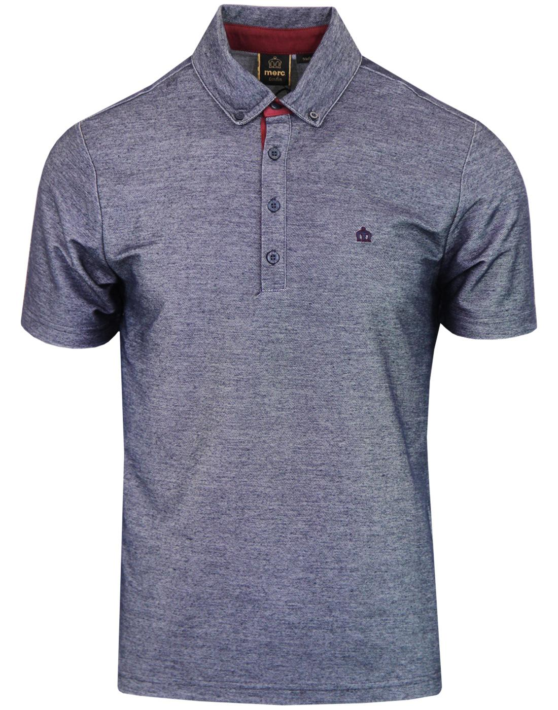 Marine MERC Retro Mod Chambray Twill Textured Polo