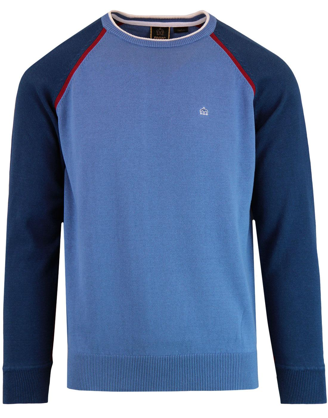Oscar MERC Retro Mod Raglan Colour Block Jumper