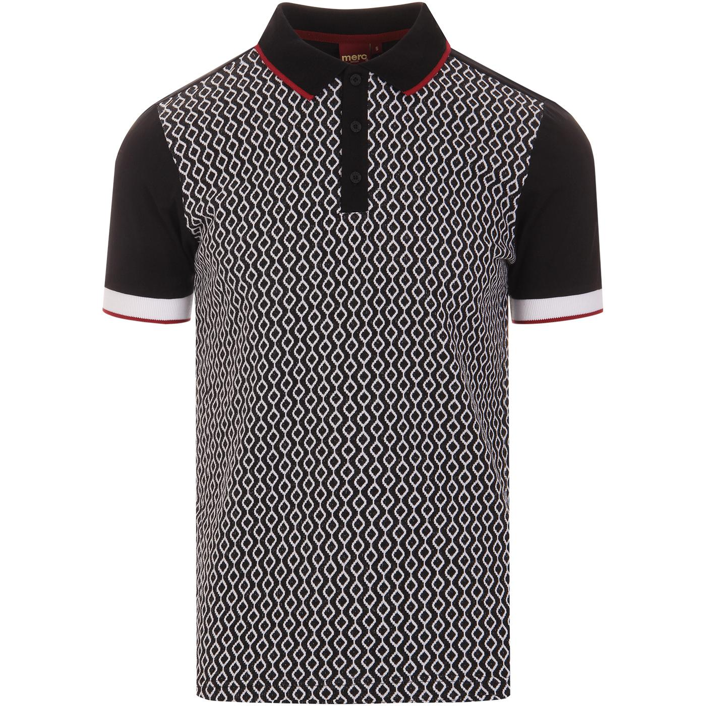 Swift MERC Mens Retro Mod Geometric Panel Polo Top