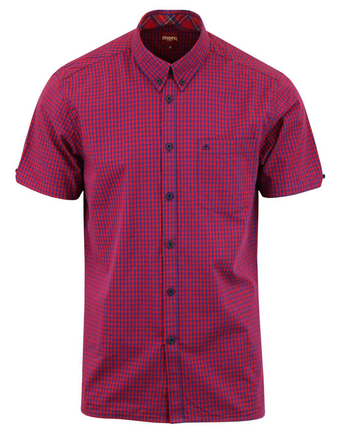 Terry MERC Retro Mod Short Sleeve Gingham Shirt RB
