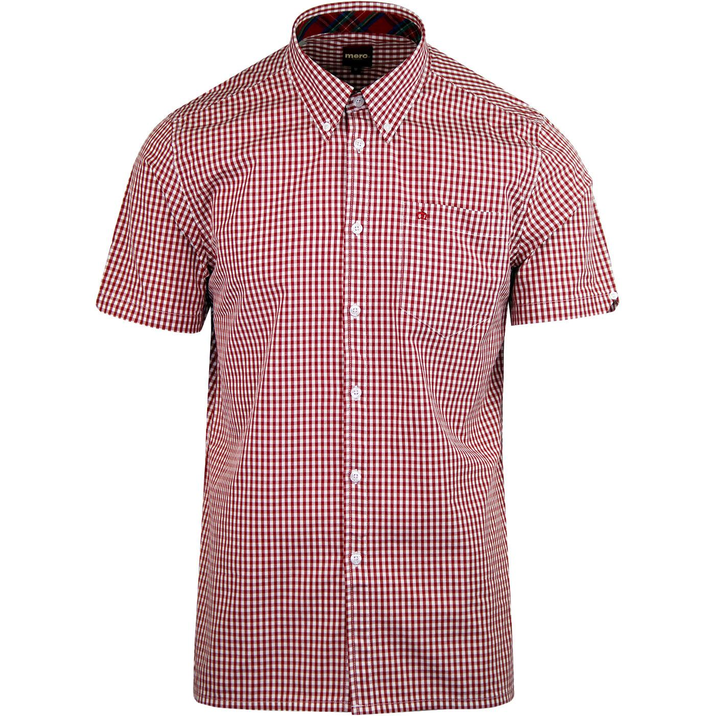 Terry MERC Sixties Mod Mens Retro Gingham Shirt R