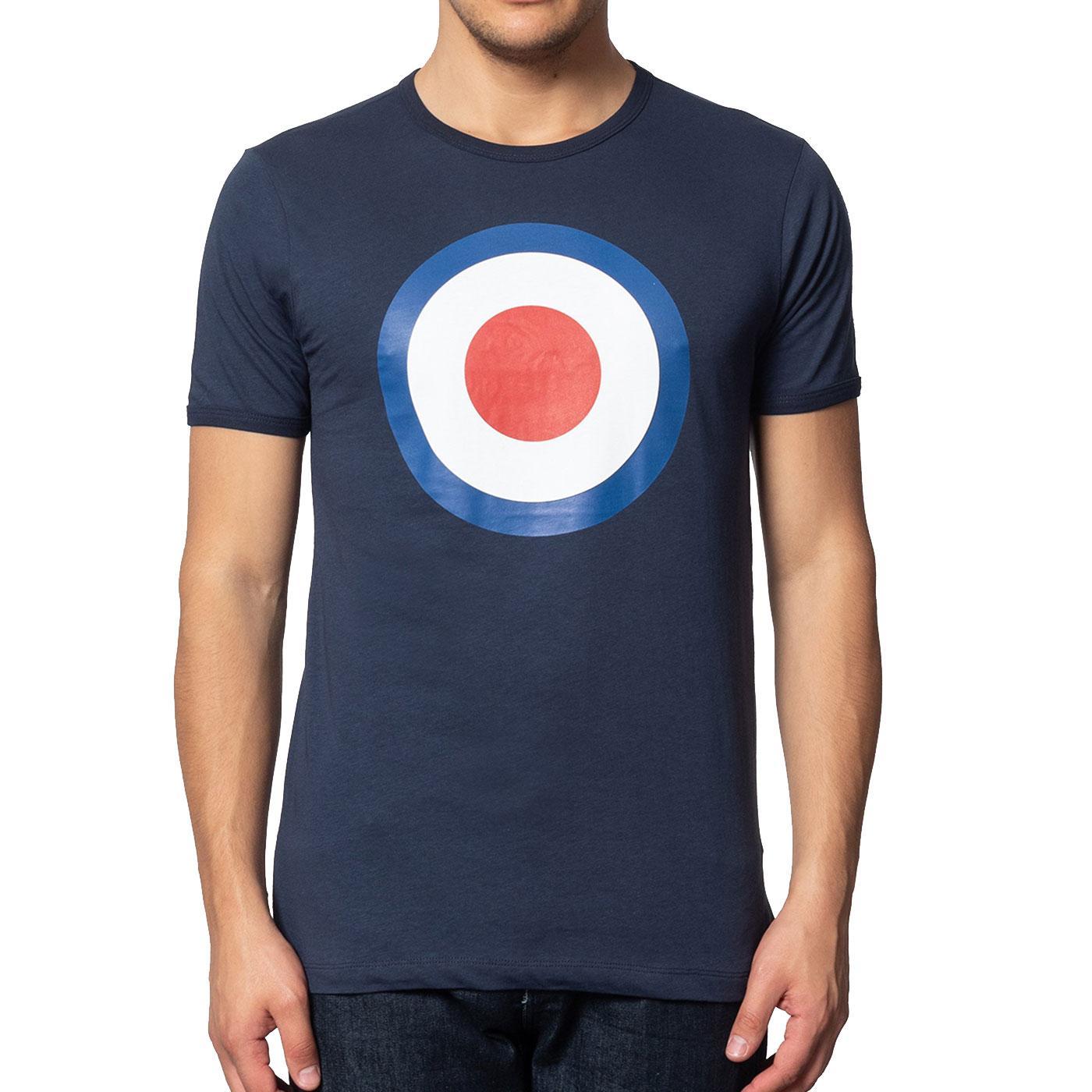 Ticket MERC Mod Target Retro Pop Art T-Shirt NAVY