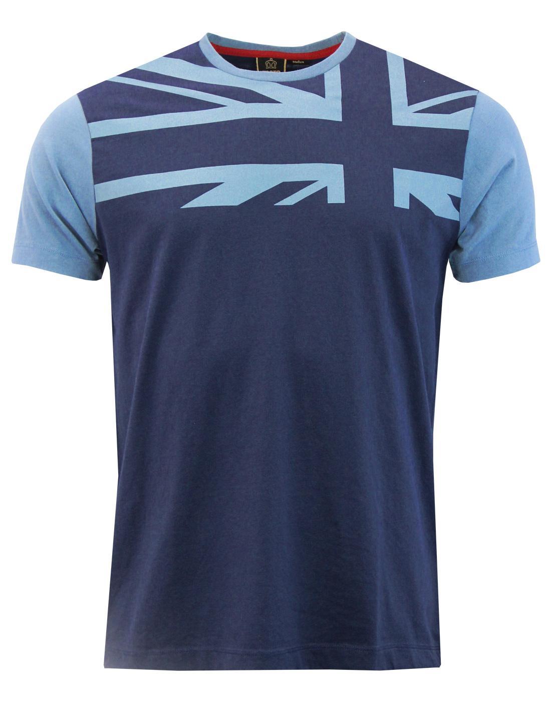 Crest MERC Retro Mod Union Jack Print T-Shirt (N)