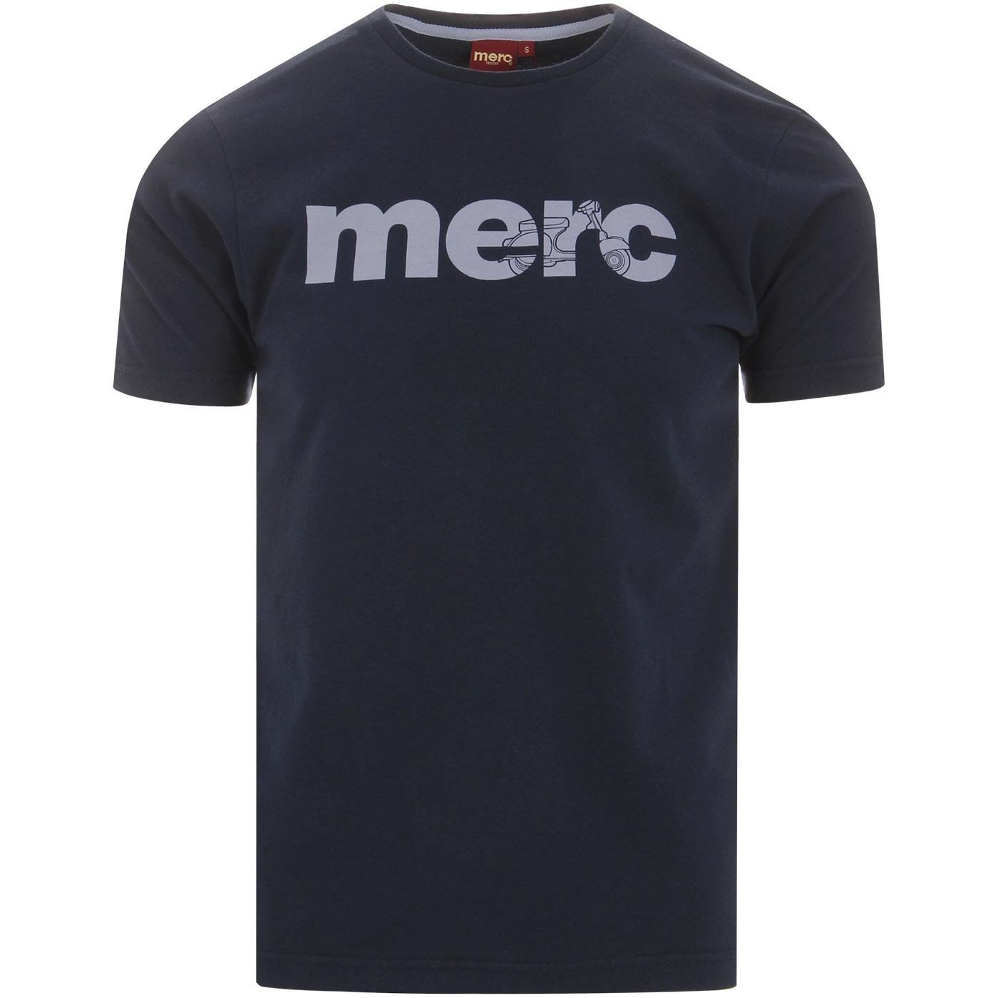 Walker MERC Men's Retro Mod Scooter Logo T-Shirt