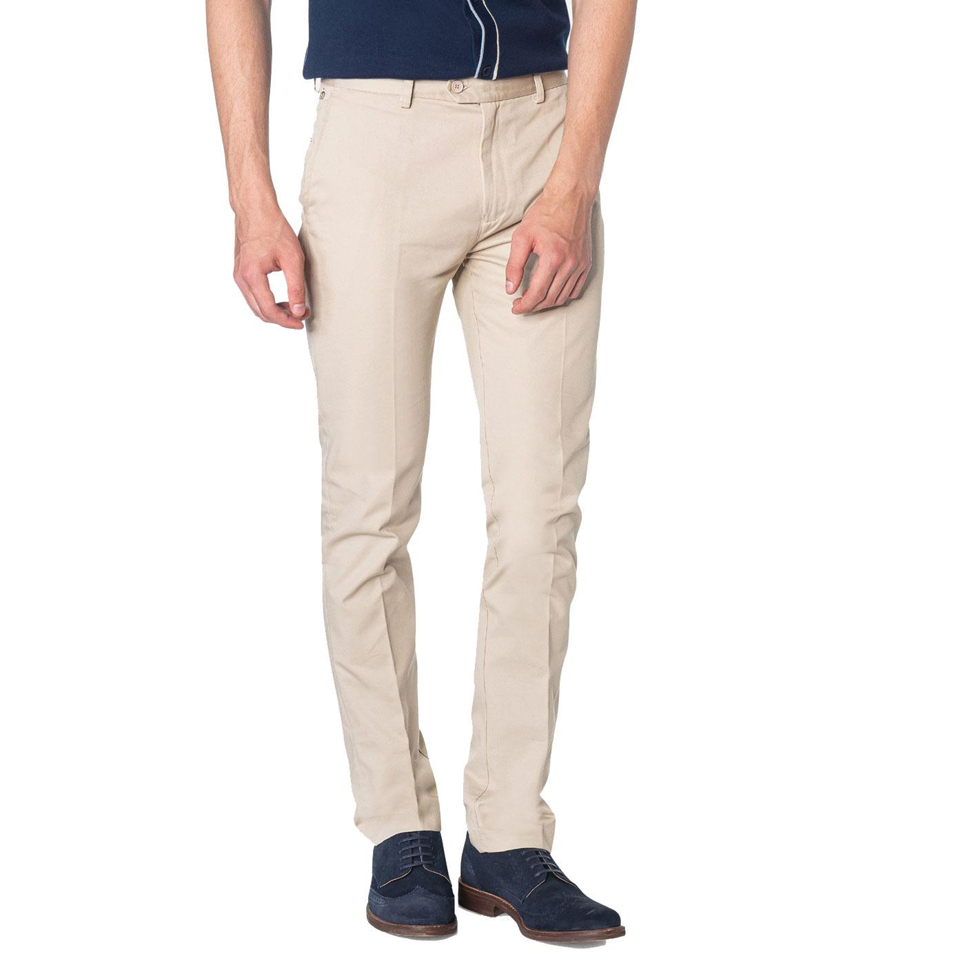 Winston MERC Men's Mod Sta Press Trousers BEIGE