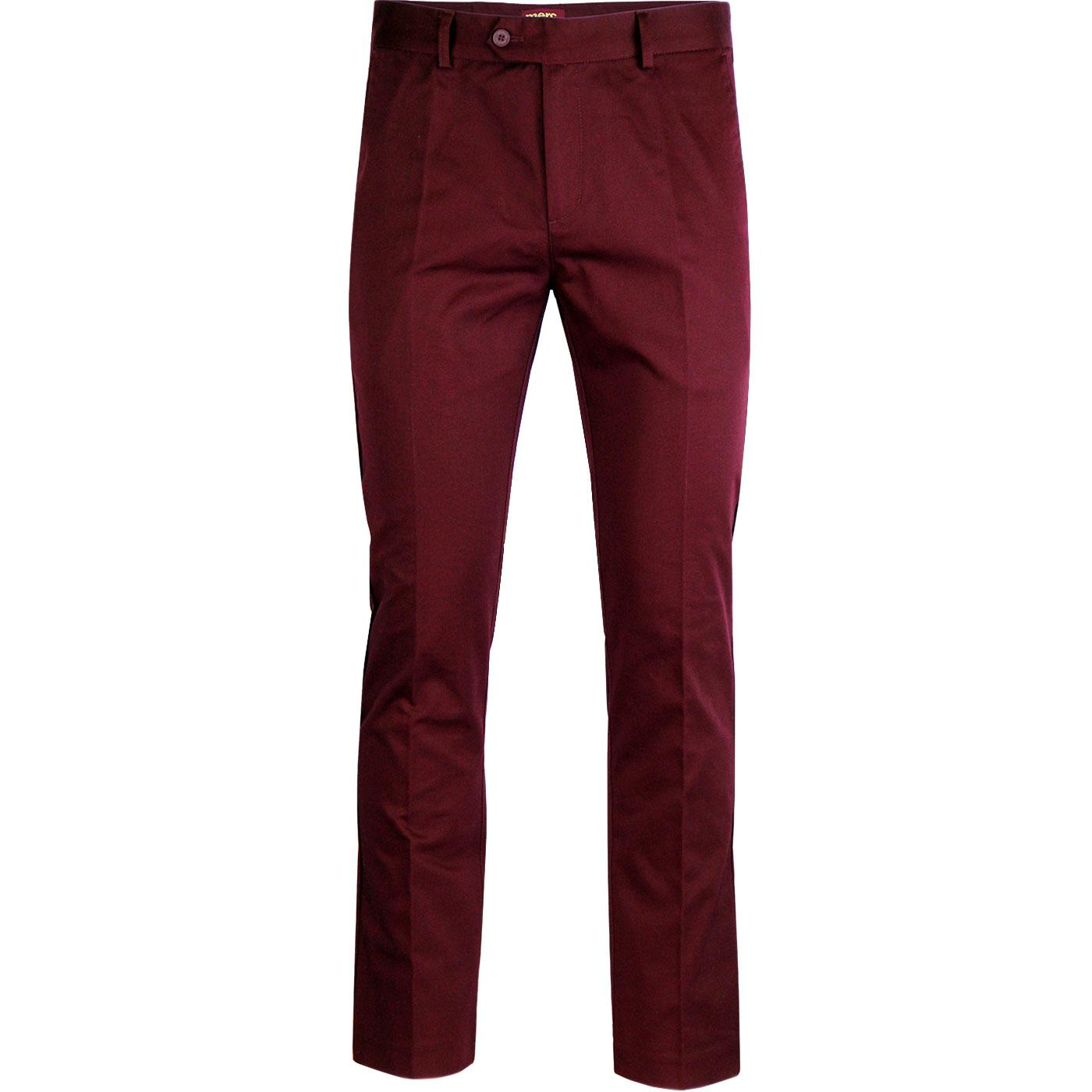 Winston MERC 60s Mod Sta Press Retro Trousers (W)