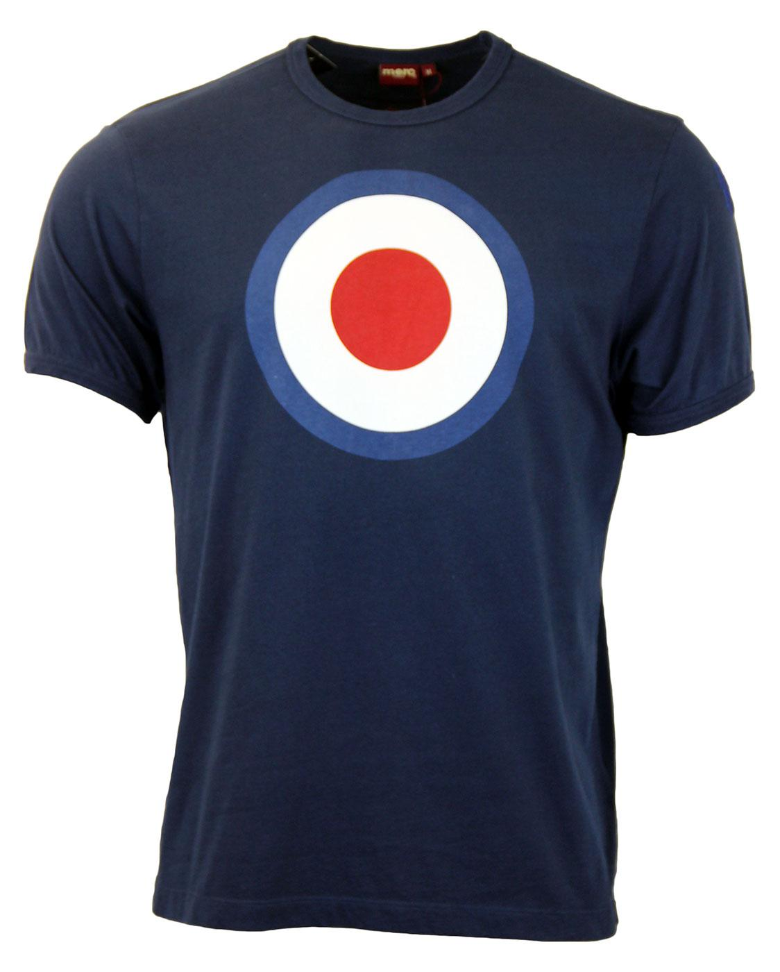 Ticket MERC Mod Target Retro Pop Art T-Shirt NAVY