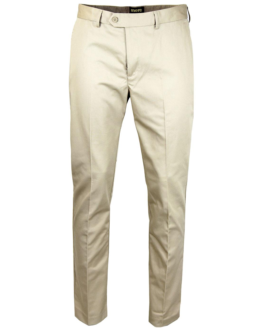 Winston MERC Mod Sta Press Retro Trousers (Cream)
