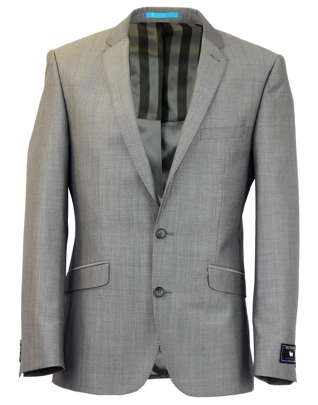 Retro 60s Mod Mohair Blend 2 Button Suit Jacket S
