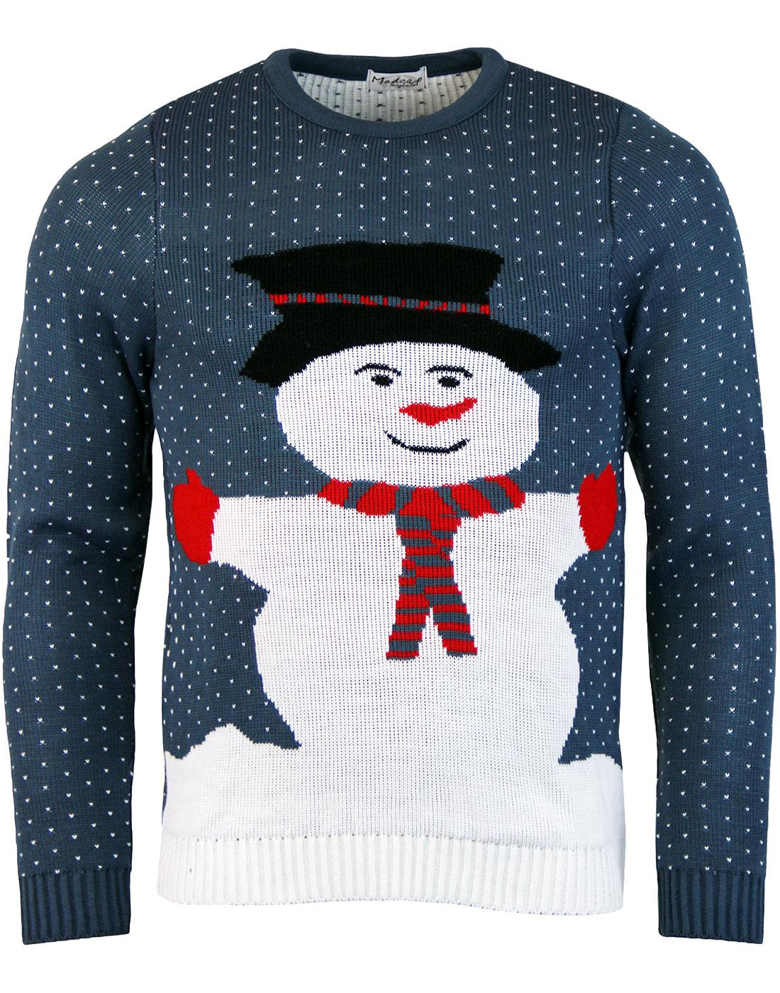Mr Snowy - Retro 70s Snowman Christmas Jumper