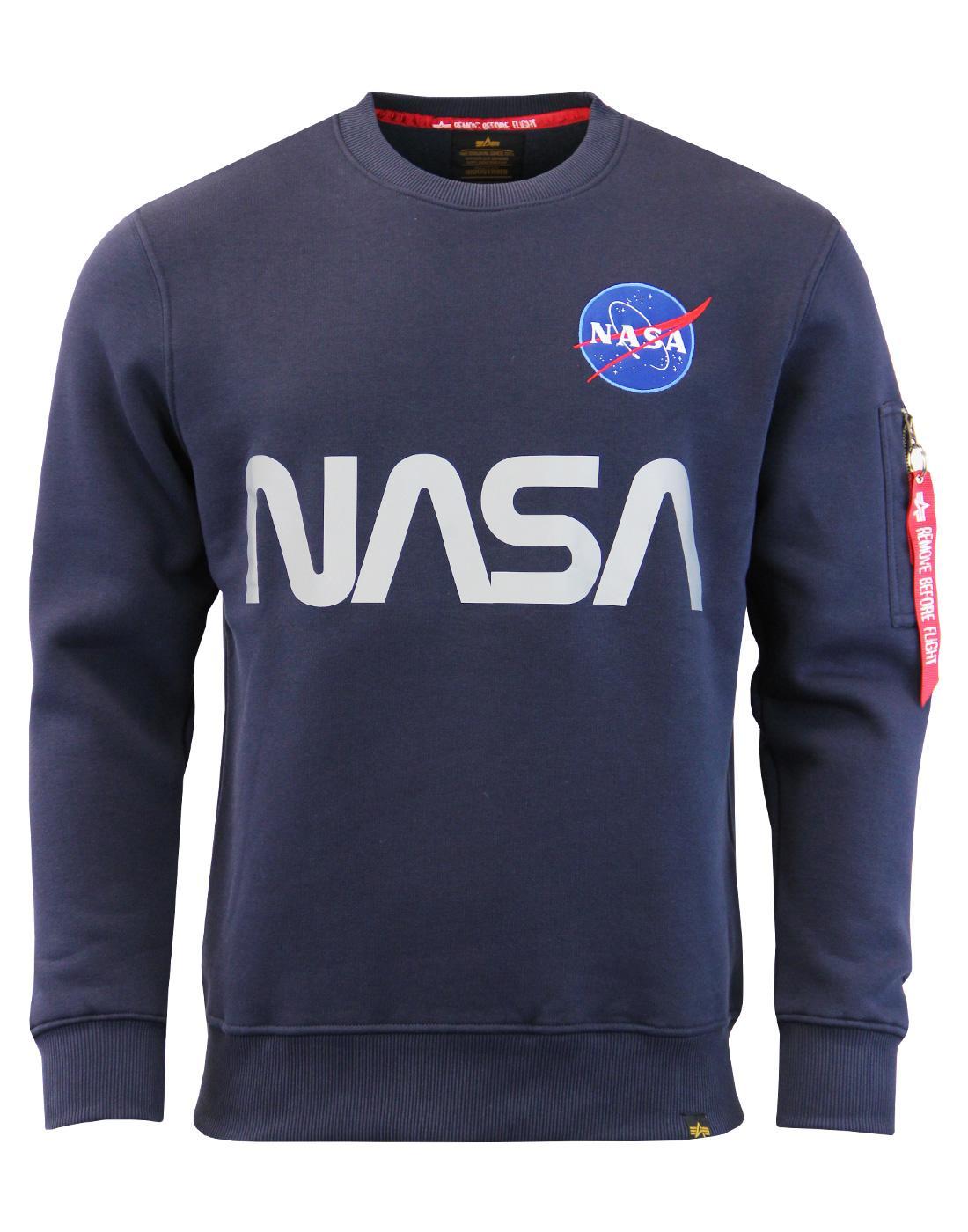 ALPHA INDUSTRIES NASA Reflective Retro Sweatshirt