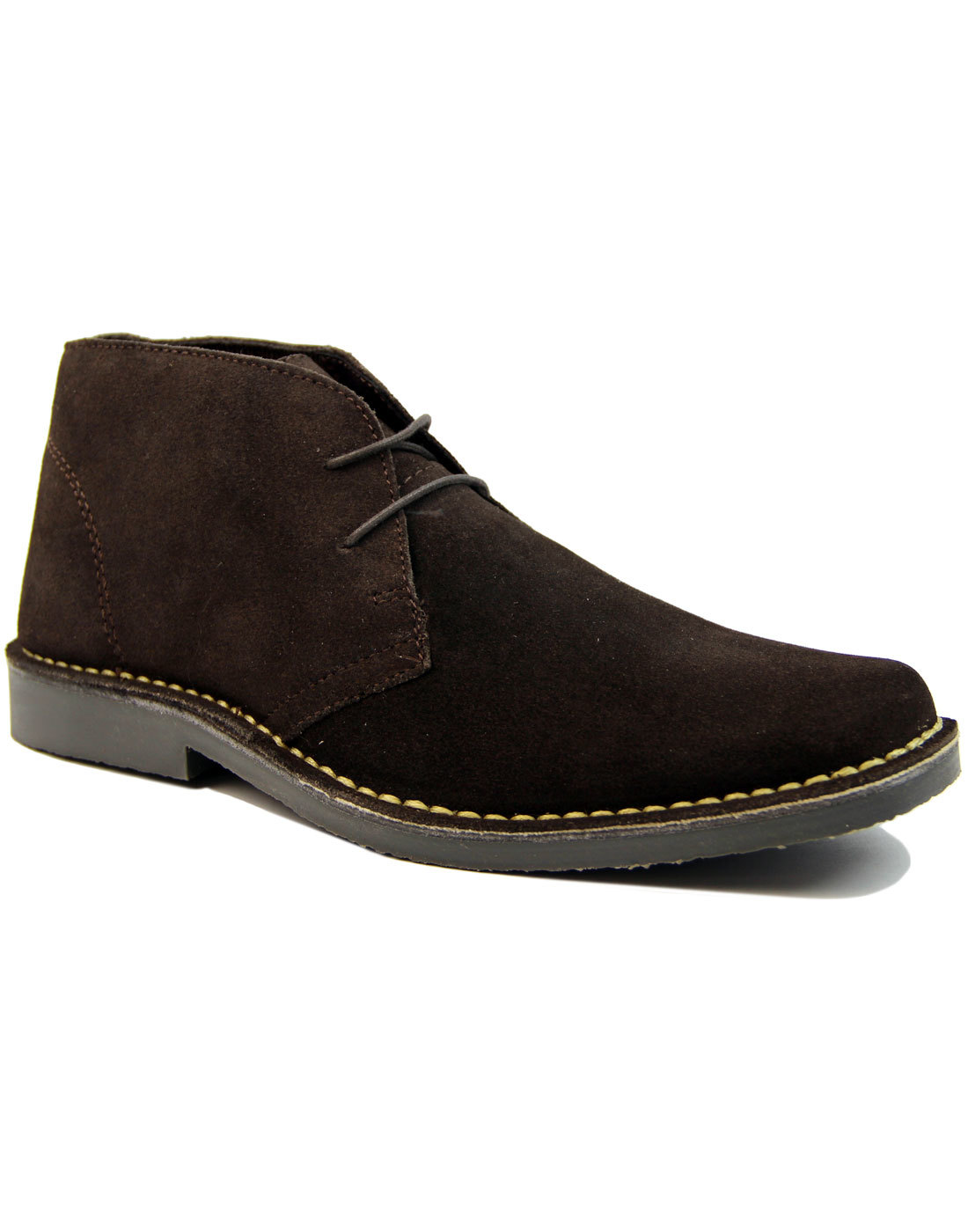 Double Dekker - Mens Mod Suede Desert Boots BROWN