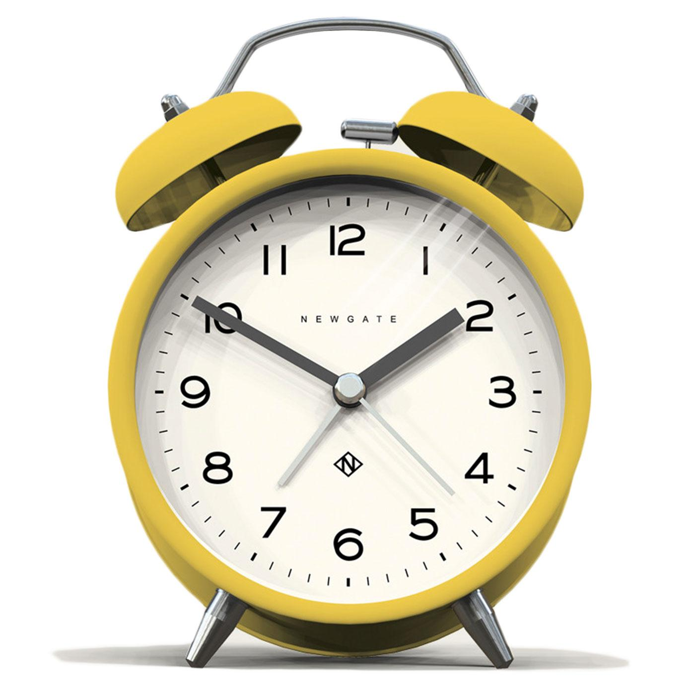 Echo NEWGATE CLOCKS Retro Bell Alarm Clock Yellow
