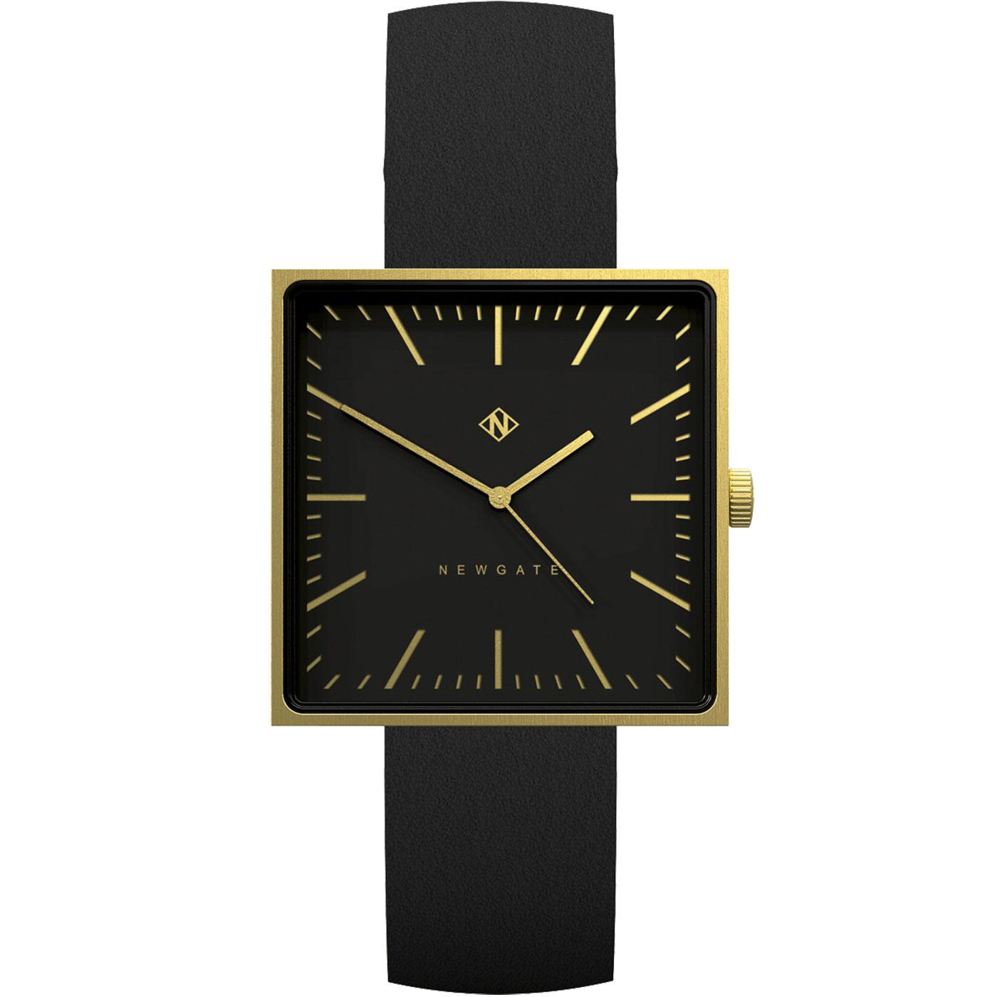 The Cubeline NEWGATE CLOCKS Retro Watch Black
