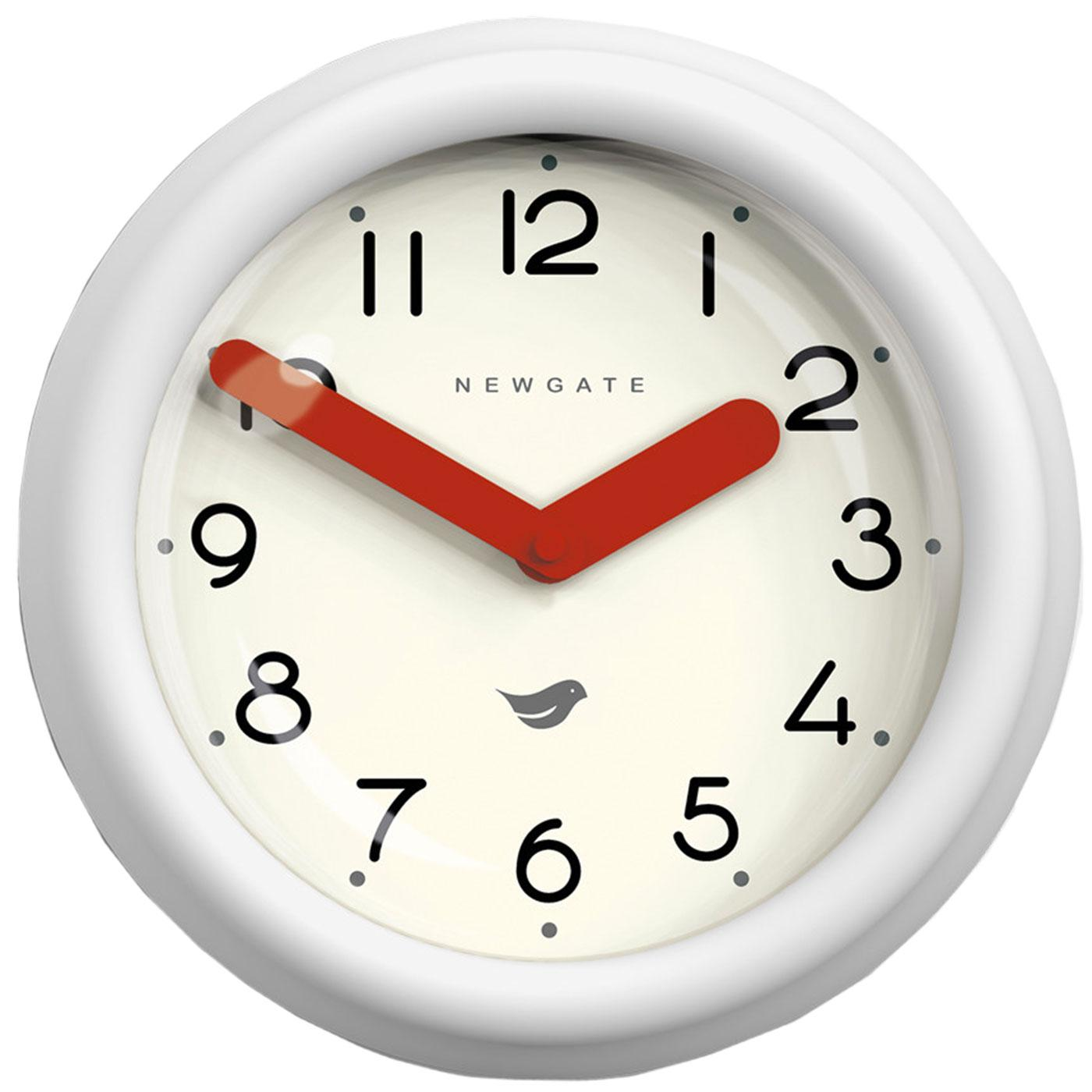 Pantry NEWGATE CLOCKS Retro Wall Clock in White