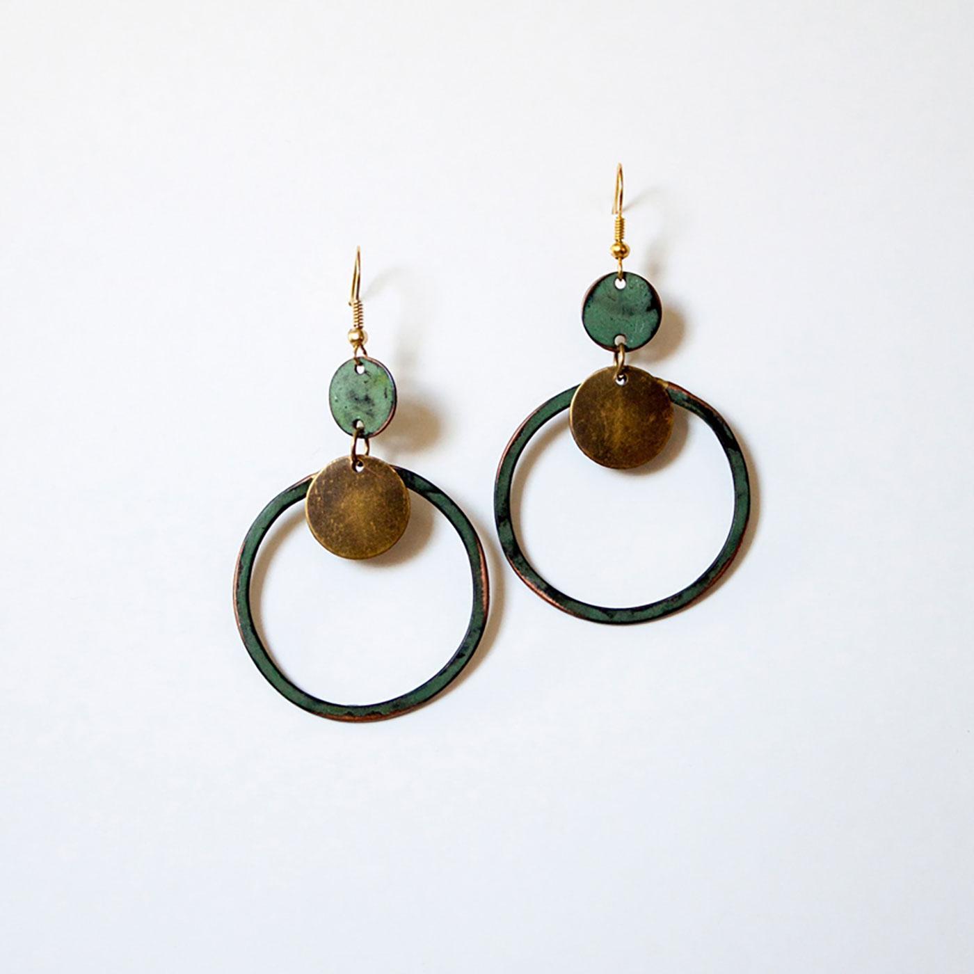 +Patina Loop NOMADS Handmade Earrings In Biscay