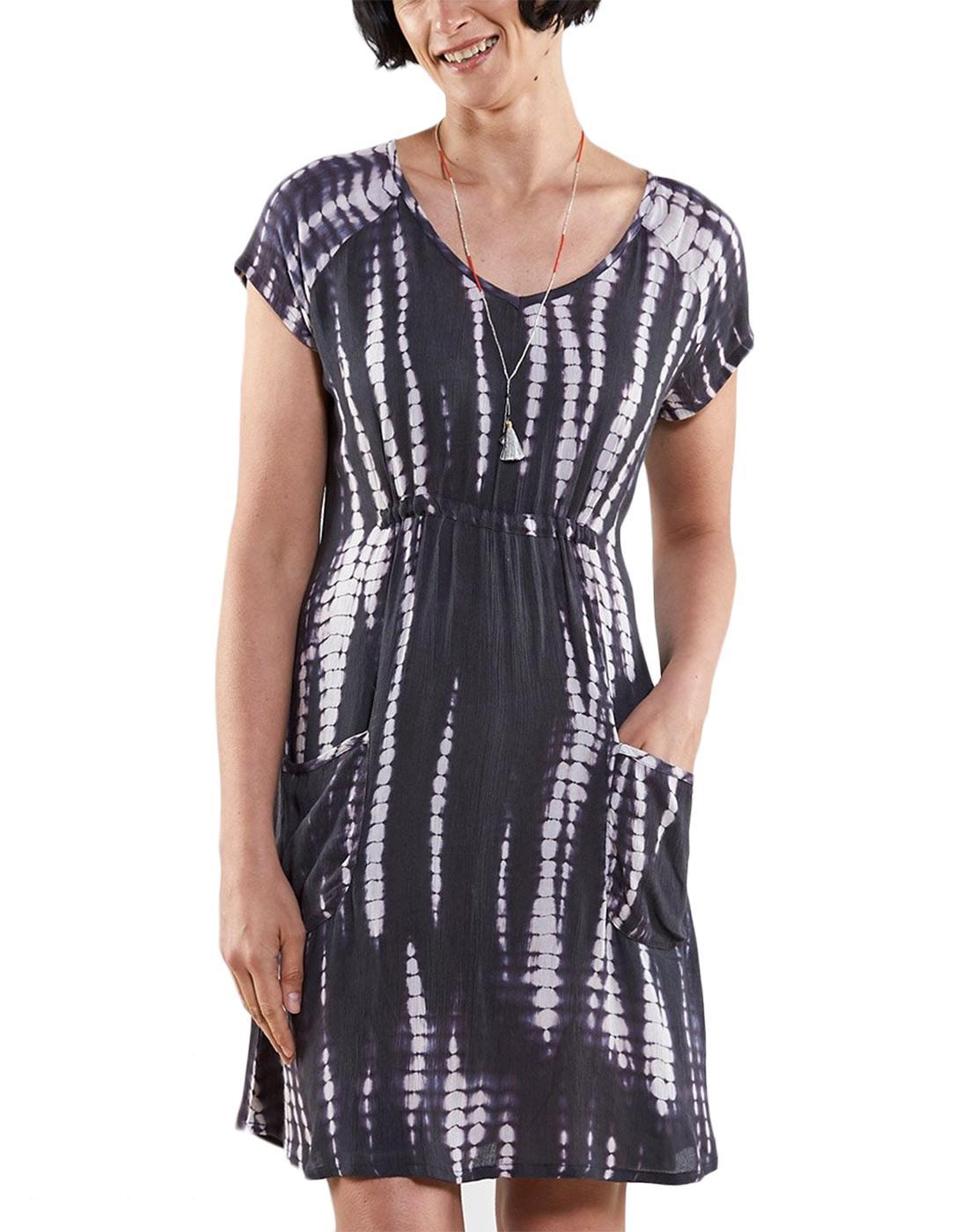 NOMADS Retro Sixties Organic Cotton Tie Dye Dress