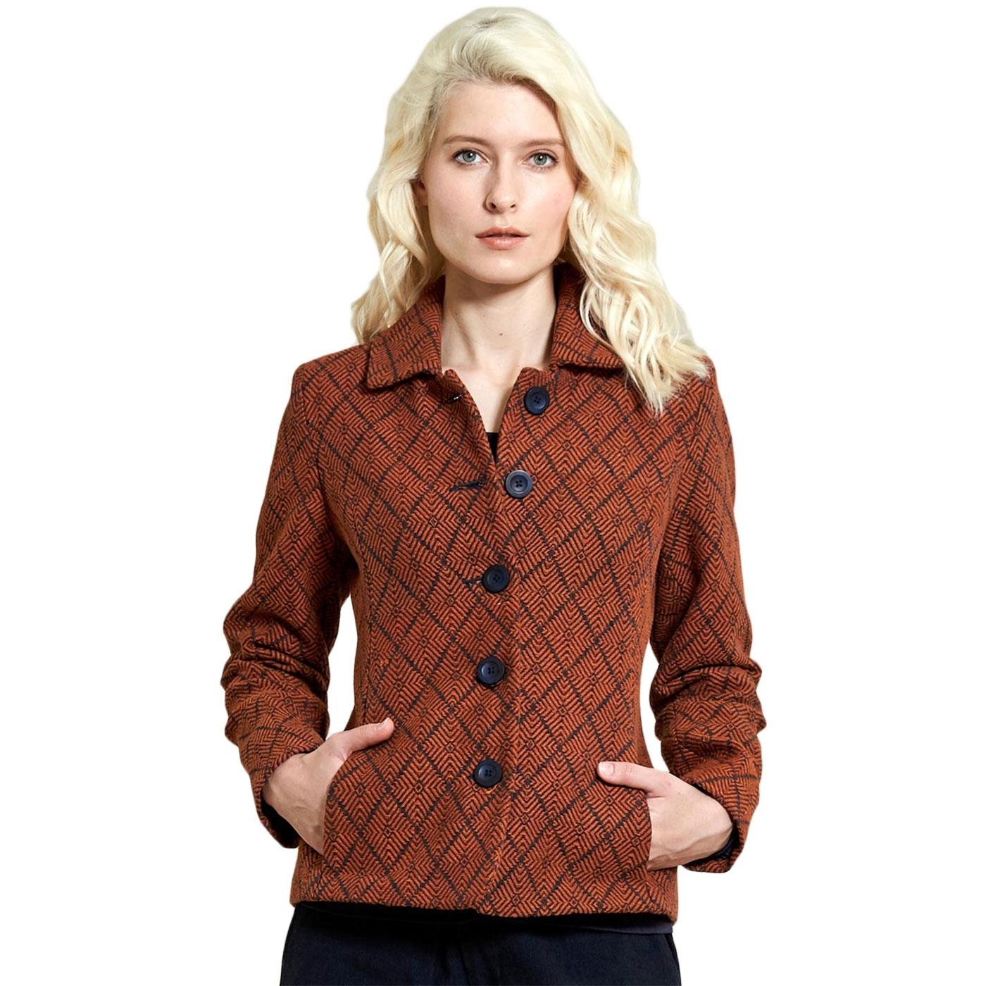 Handloom NOMADS Vintage Short Jacket In Sienna