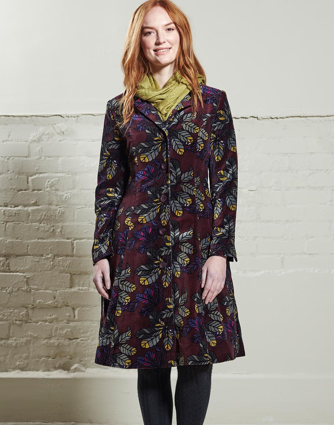 NOMADS Womens Retro Vintage Velvet Coat - Rosewood