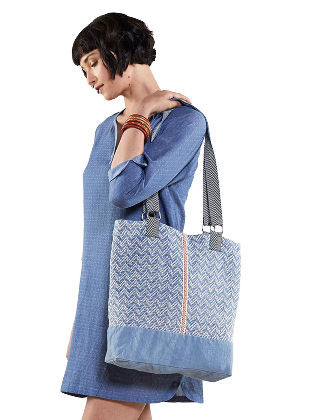 NOMADS Retro 1970's Handloom Womens Shopper Bag