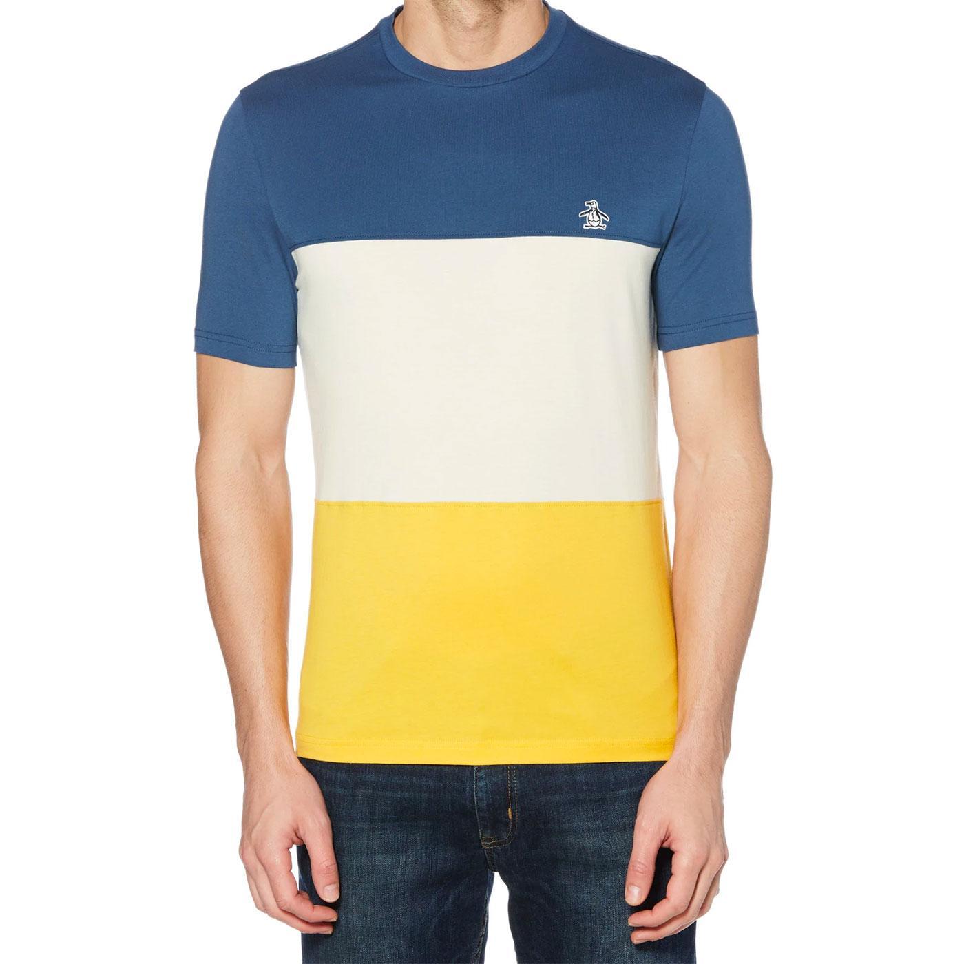 ORIGINAL PENGUIN Men's Retro Colour Block T-Shirt