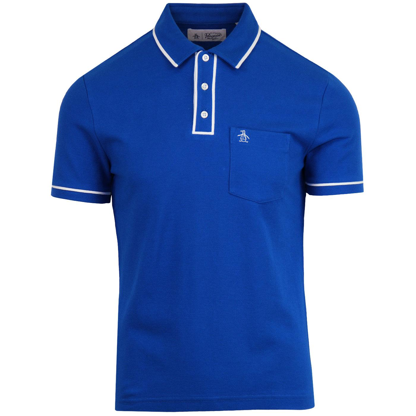 Earl ORIGINAL PENGUIN Retro Mod Tipped Polo Top CB