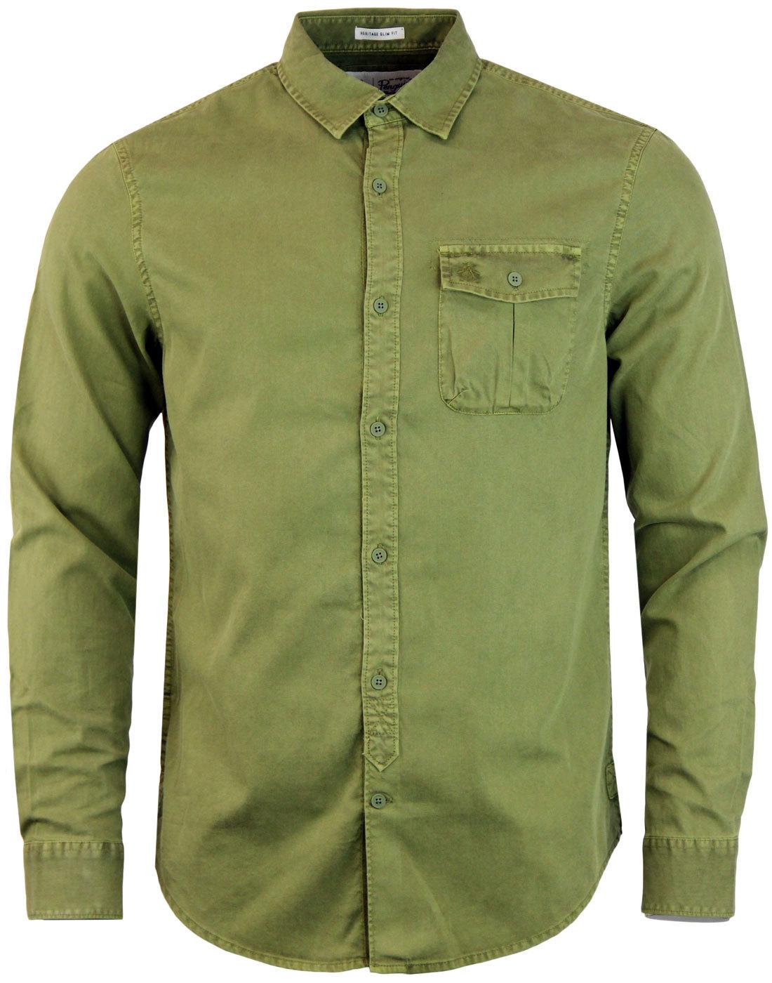 ORIGINAL PENGUIN Retro Garment Dyed Military Shirt