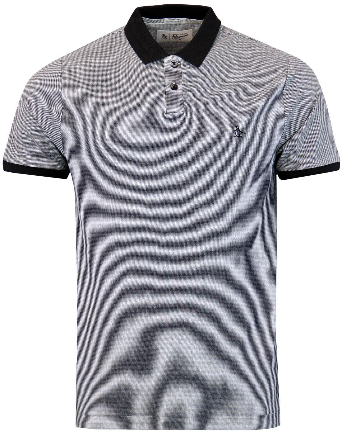 ORIGINAL PENGUIN Retro Mod Birdseye Polo Top (B)