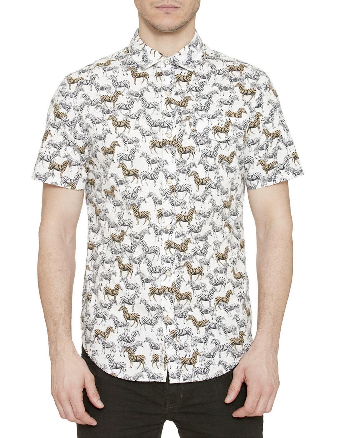 ORIGINAL PENGUIN Retro Mod 70s Zebra Print Shirt