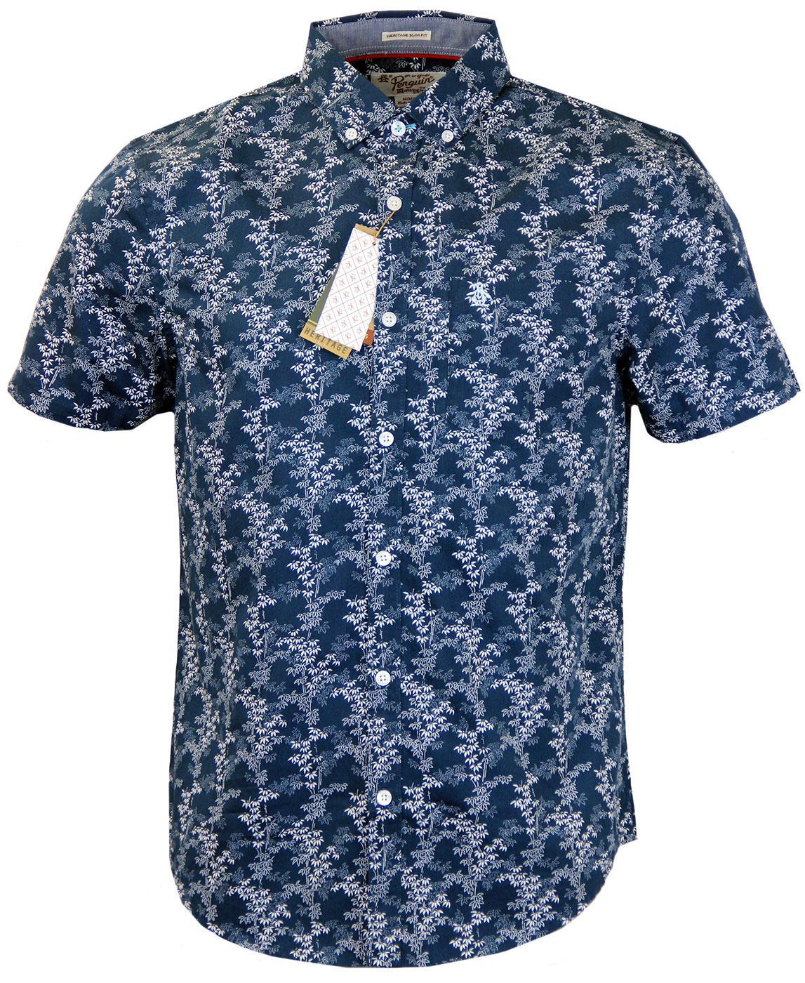 ORGINAL PENGUIN Retro Mod Floral Bamboo Shirt