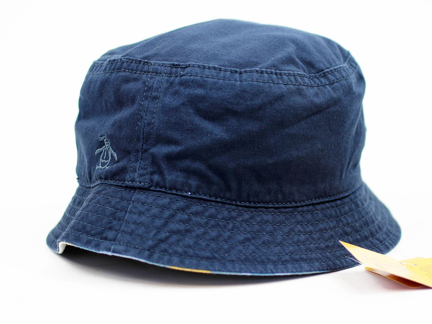 ORIGINAL PENGUIN Retro Indie Britpop Bucket Hat Dress Blues 725f57538d0