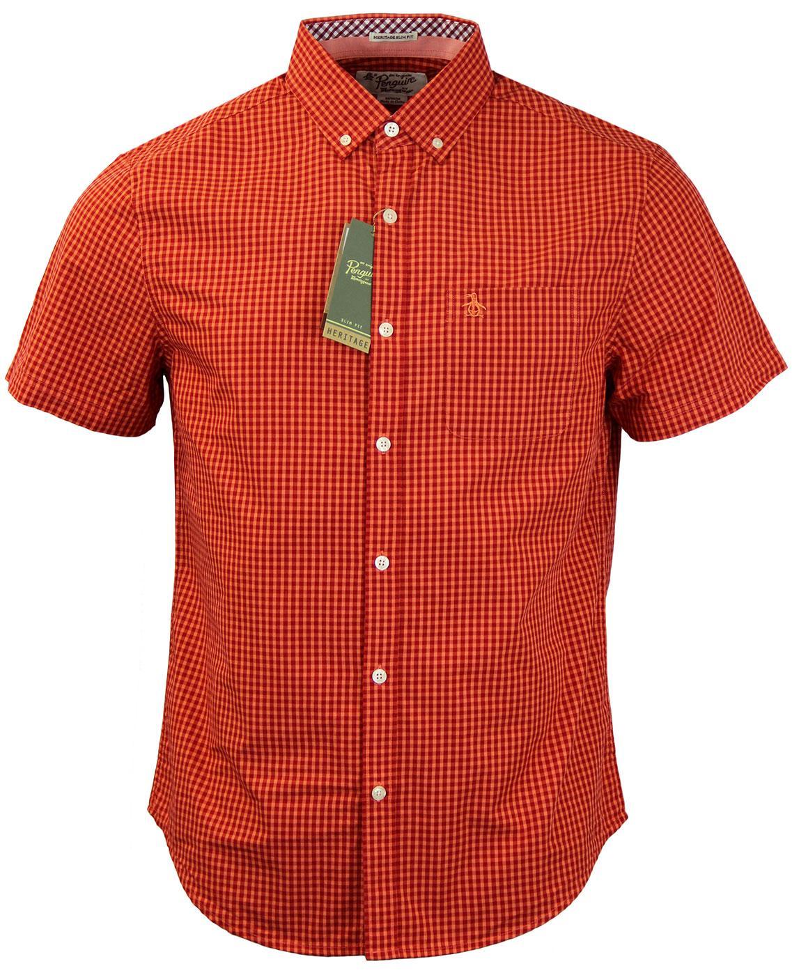 Belan Gingham ORIGINAL PENGUIN Retro Mod S/S Shirt