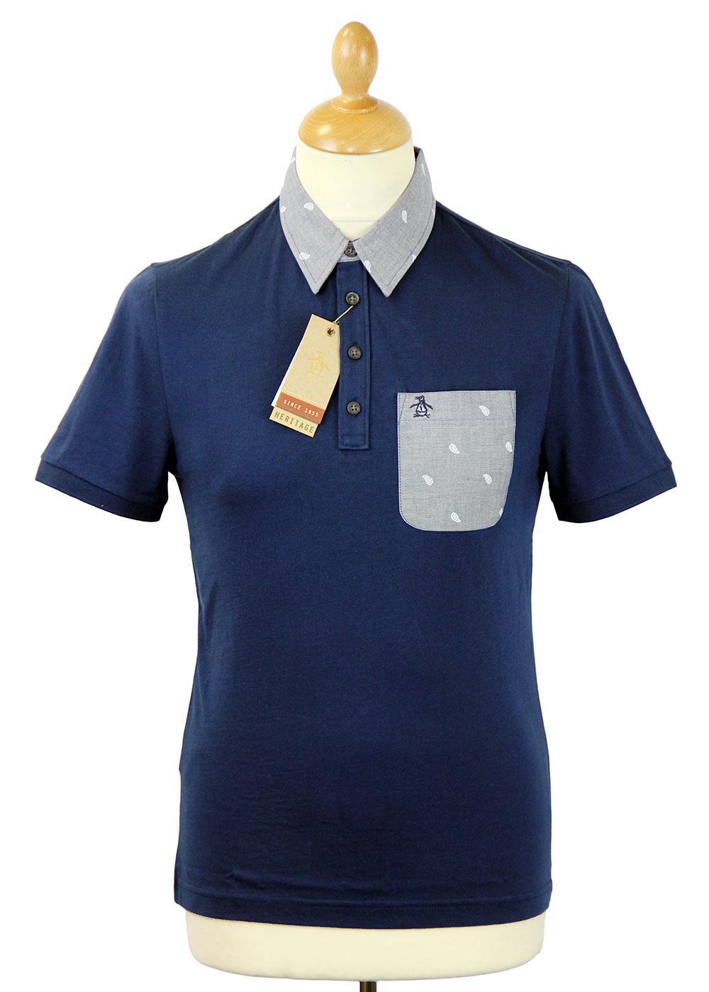 Raga Original Penguin Mod Paisley Collar Polo (DB)