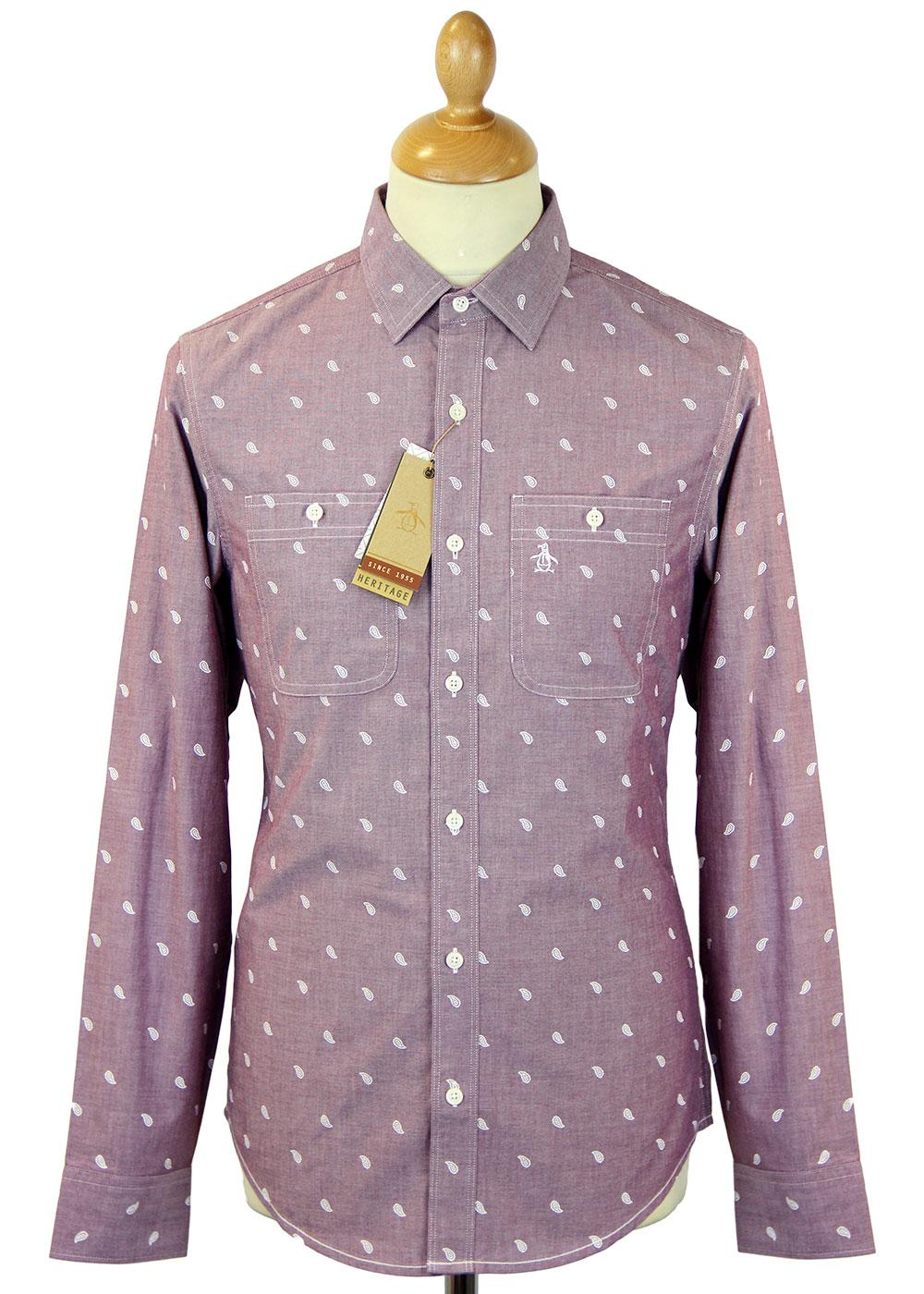 ORIGINAL PENGUIN Mod Paisley Print Oxford Shirt IP