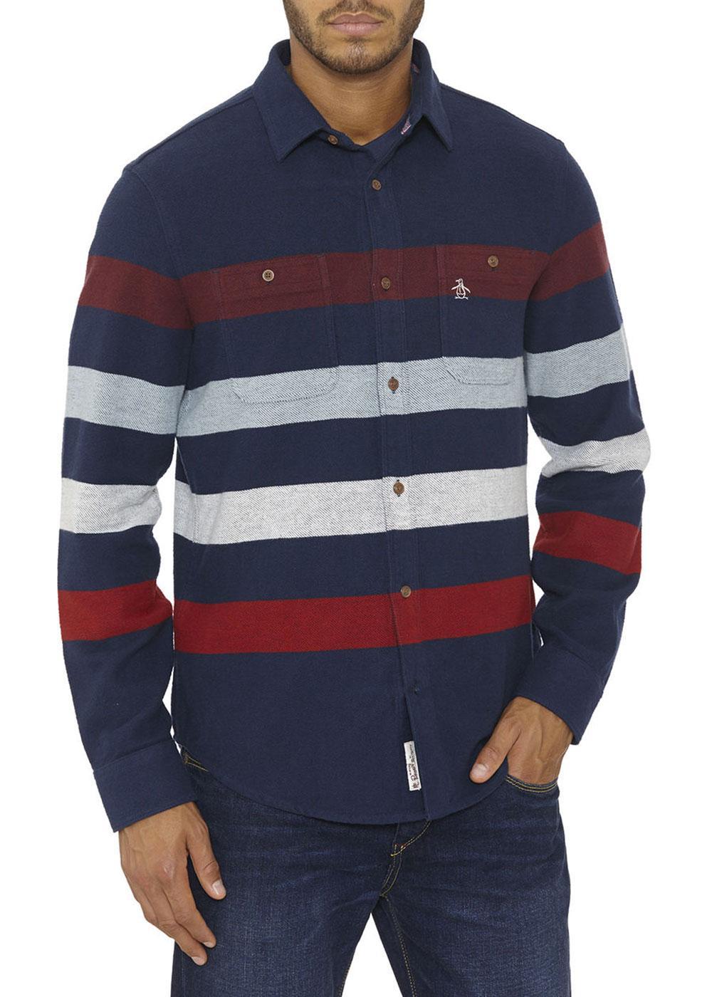 No Limit ORIGINAL PENGUIN Heavy Flannel Shirt (DB)