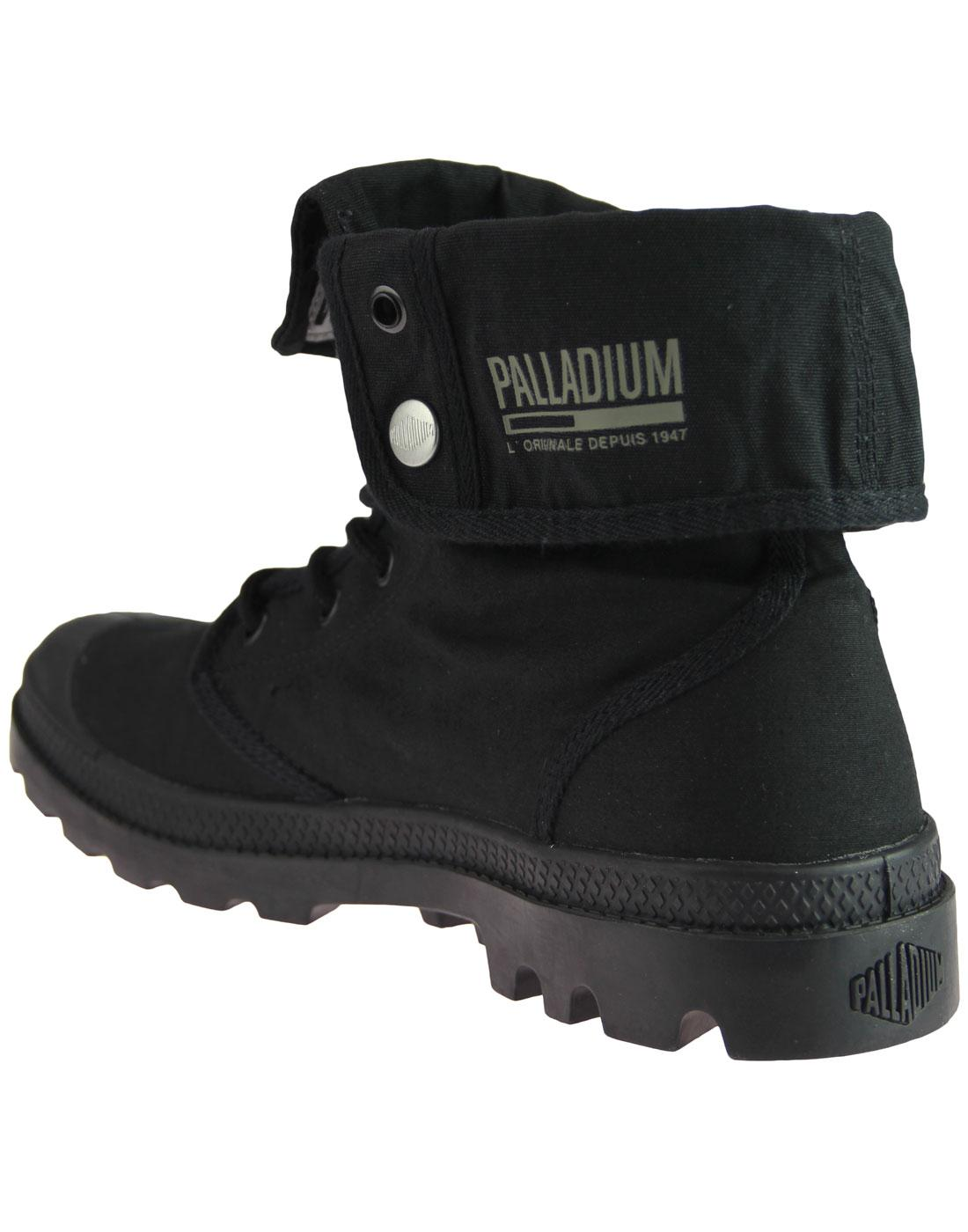 856a5205afc PALLADIUM Baggy Army Training Camp Retro Boots in Black