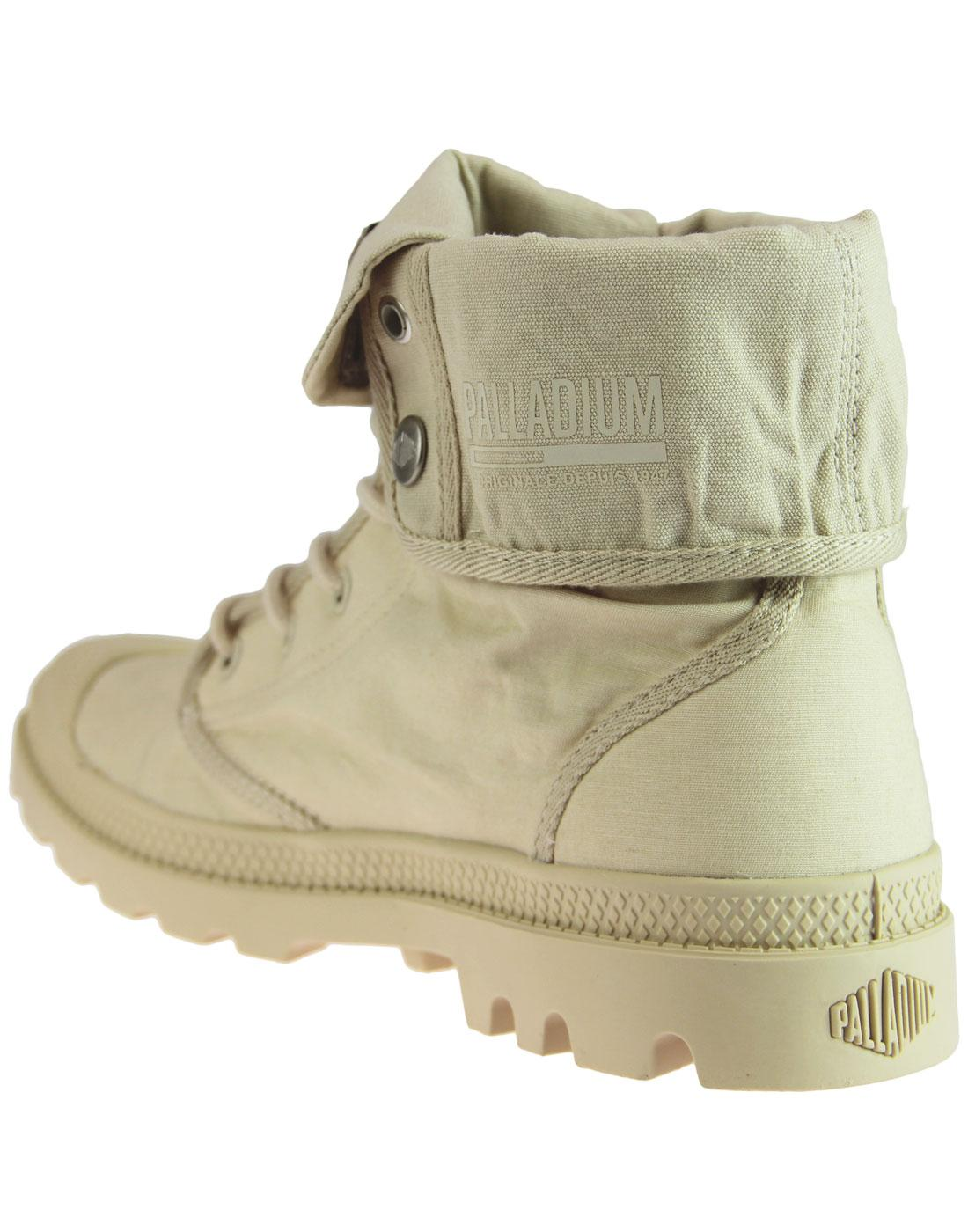 7909003d255 PALLADIUM Baggy Army Training Camp Retro Boots in Sahara
