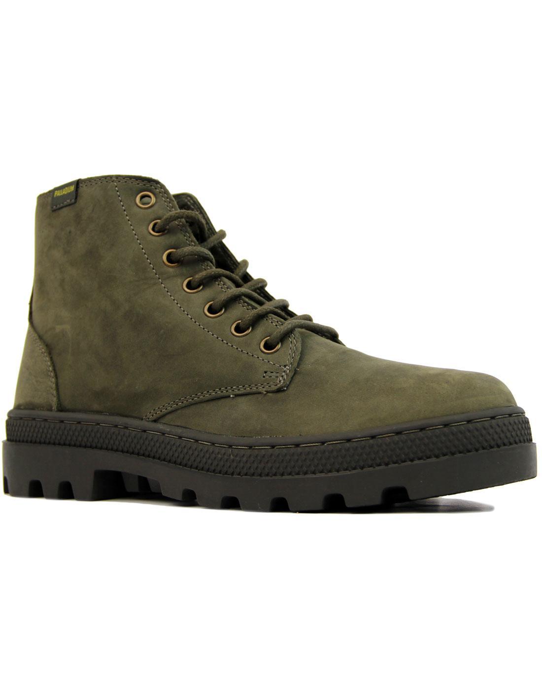 Pallabosse Mid PALLADIUM Retro Oiled Leather Boots