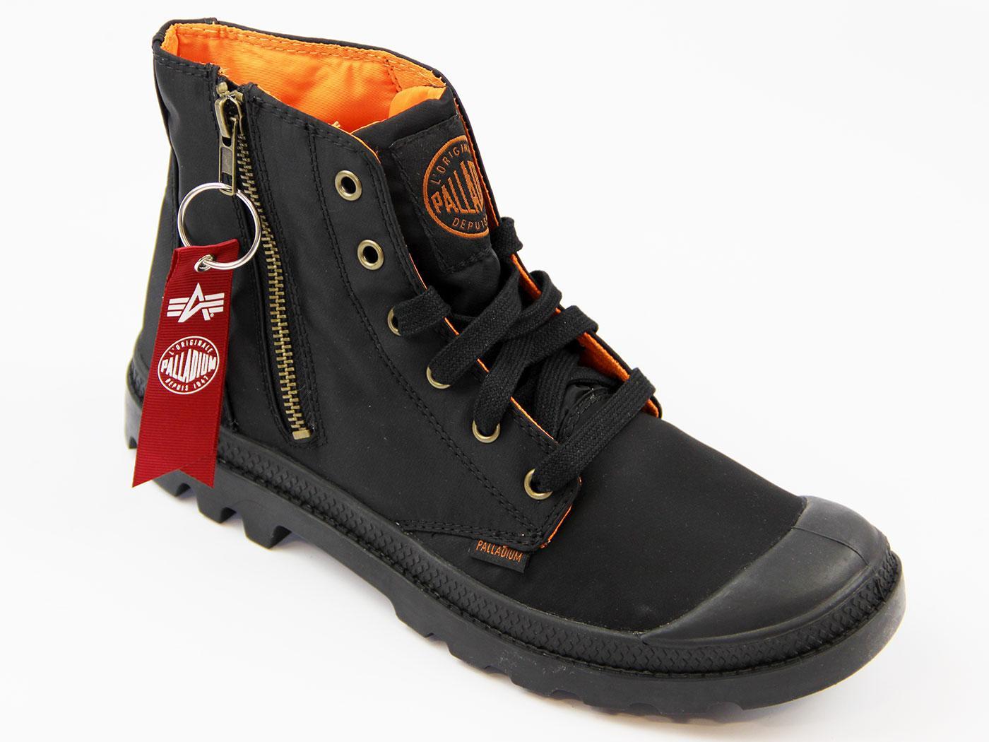 0e116864cd PALLADIUM Pampa Hi Zip MA-1 ALPHA INDUSTRIES Retro Boots Black