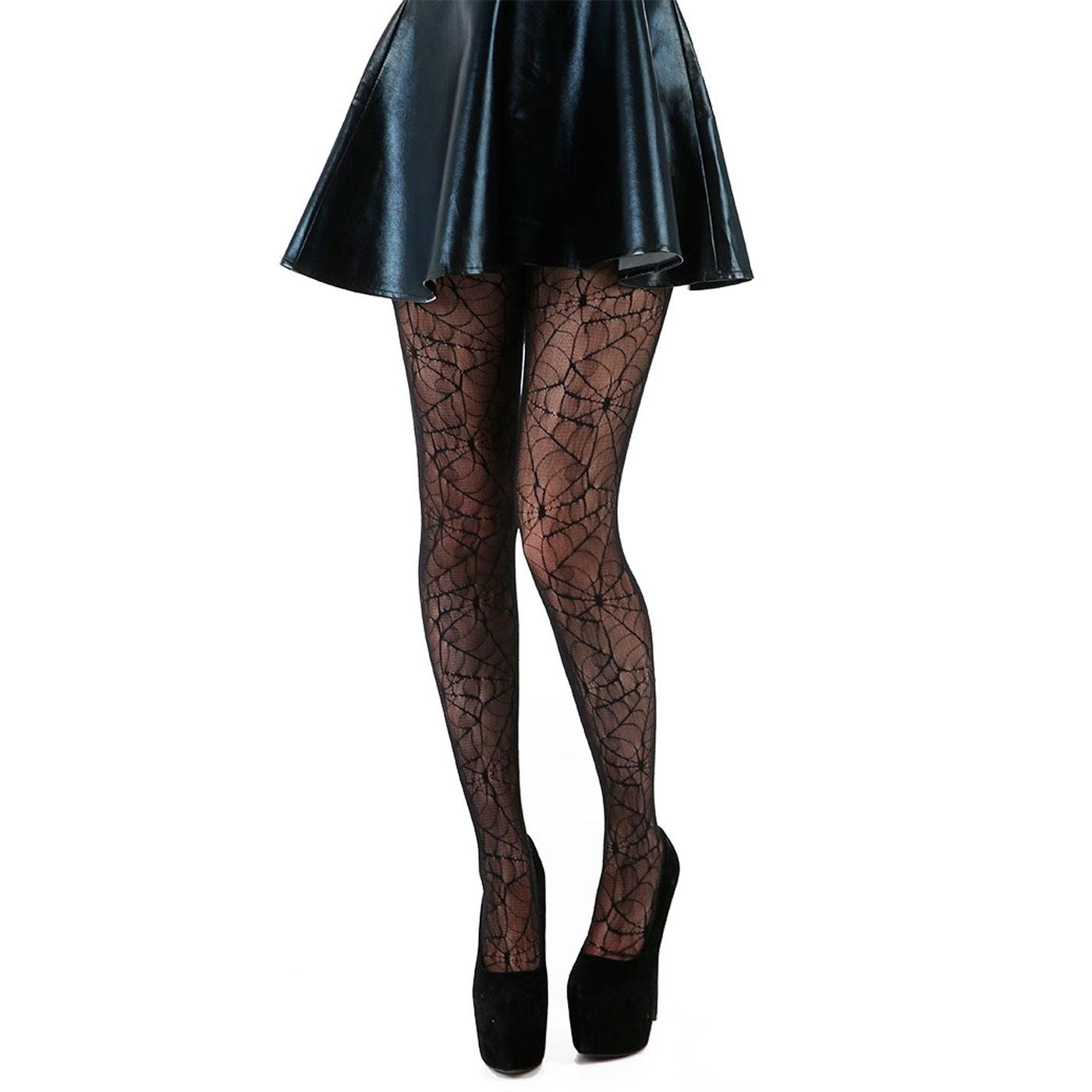 +All Over Cobweb PAMELA MANN Halloween Lace Tights
