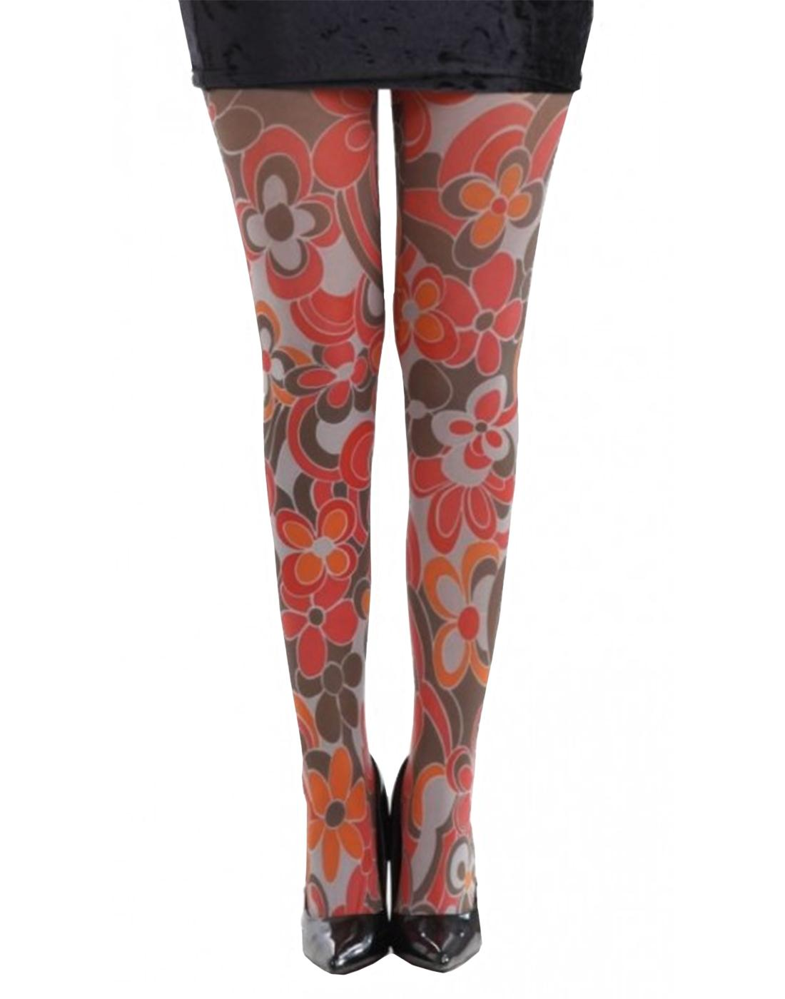 +PAMELA MANN Clover Retro 60s Mod Pop Art Tights
