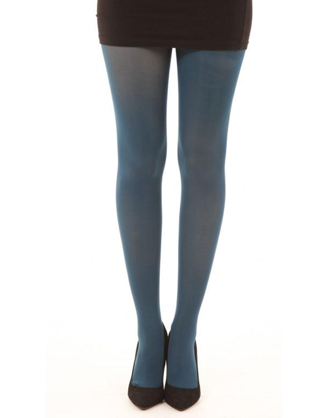 + PAMELA MANN 80 Denier Opaque Tights in Dark Teal