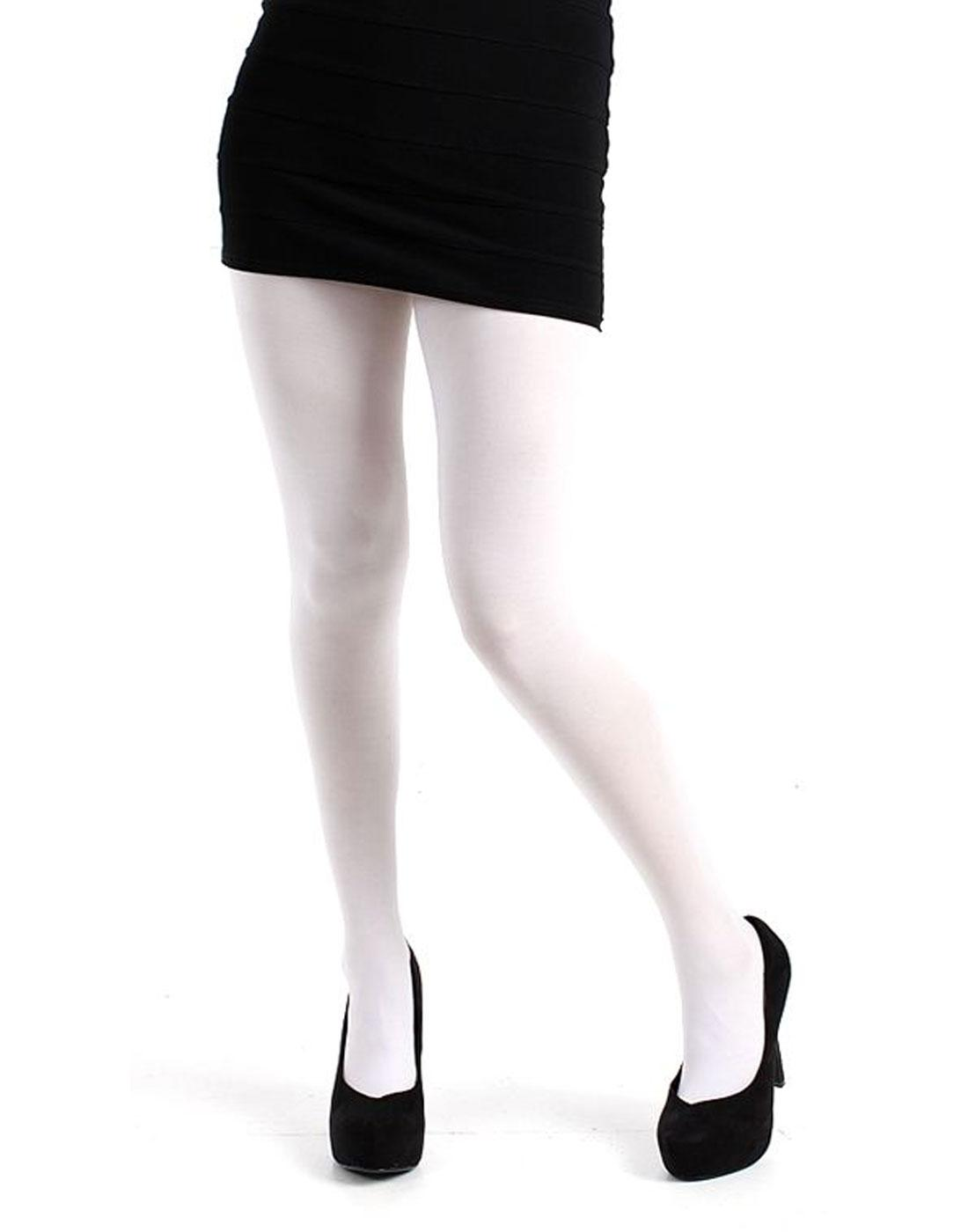 + PAMELA MANN 80 Denier Opaque Tights in White