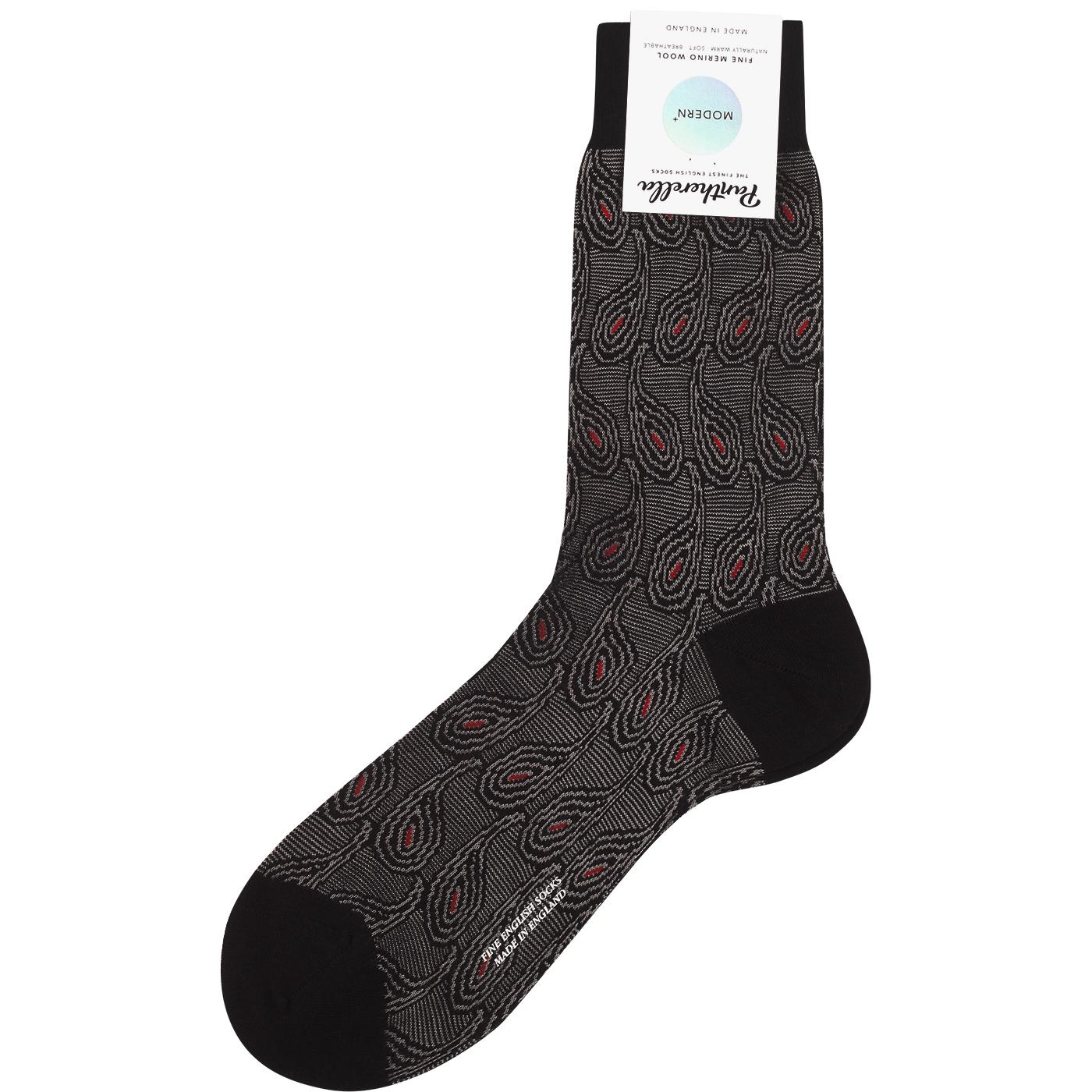 + Priestley PANTHERELLA Paisley Psychedelic Socks
