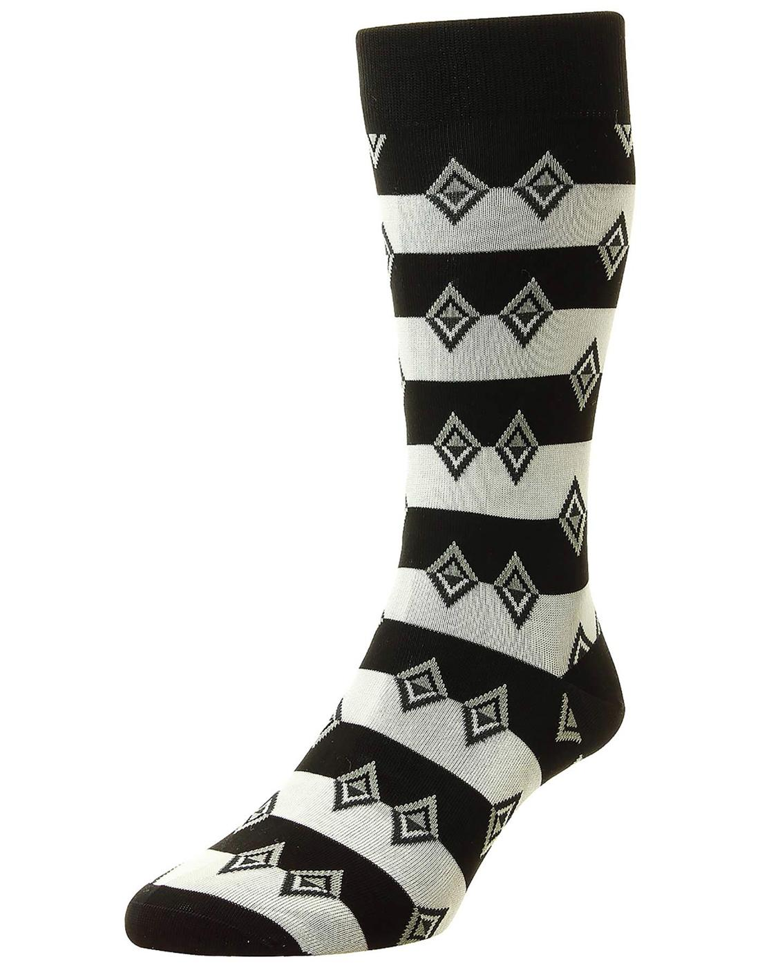 + Acapulco PANTHERELLA Retro Aztec Diamond Socks B