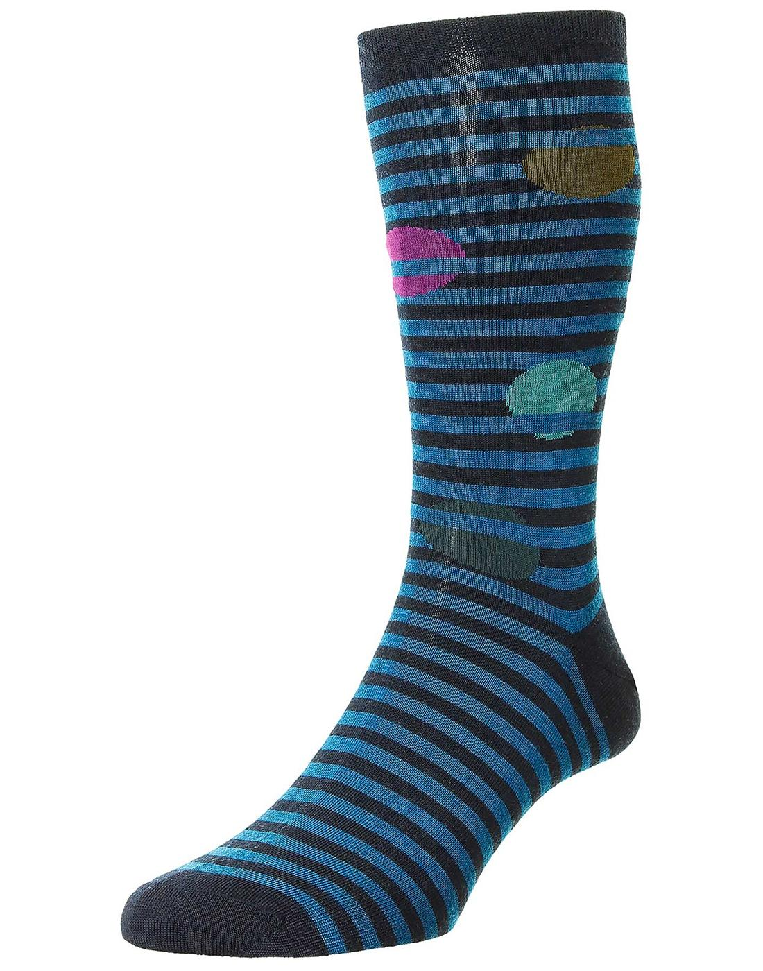 + Berner PANTHERELLA Retro Stripe Merino Socks